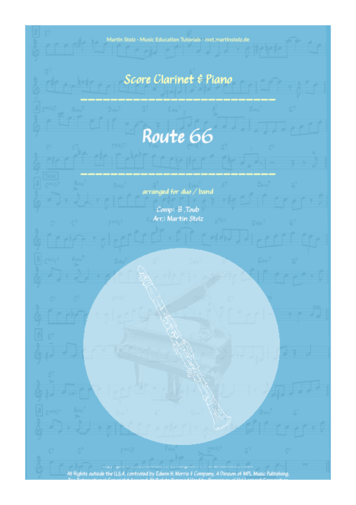 Route 66 for Clarinet and Band/Piano
