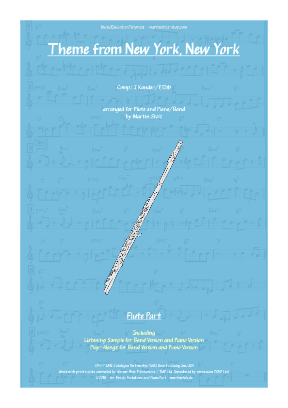 New York, New York for Flute & Band/Piano