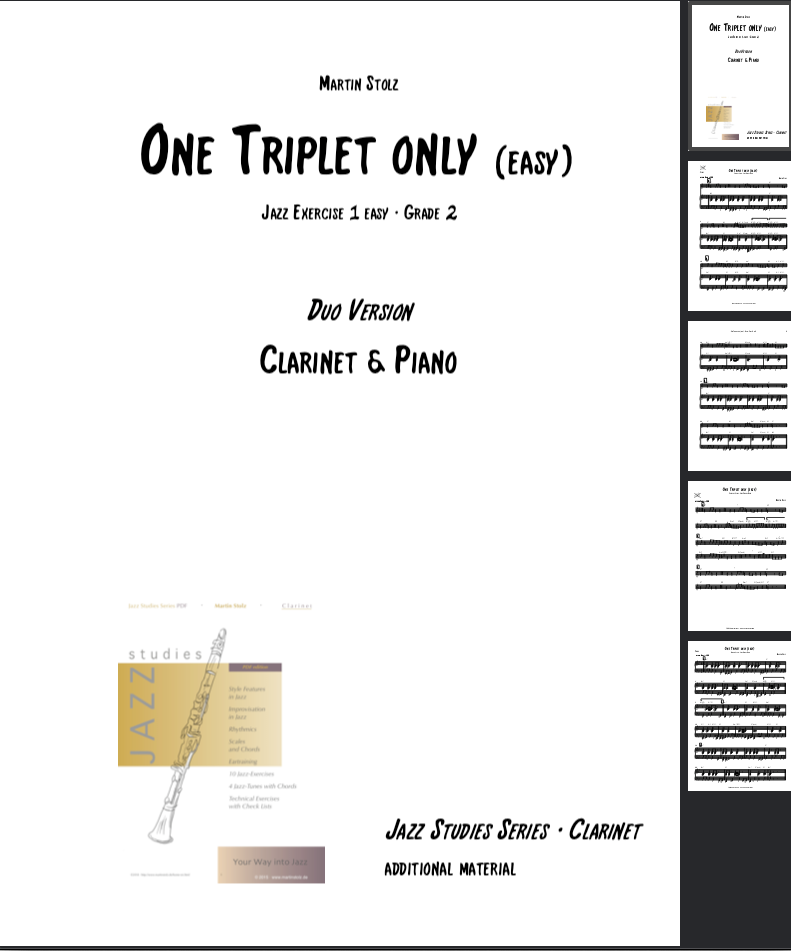 One Triplet only (easy version) · Clarinet & Piano
