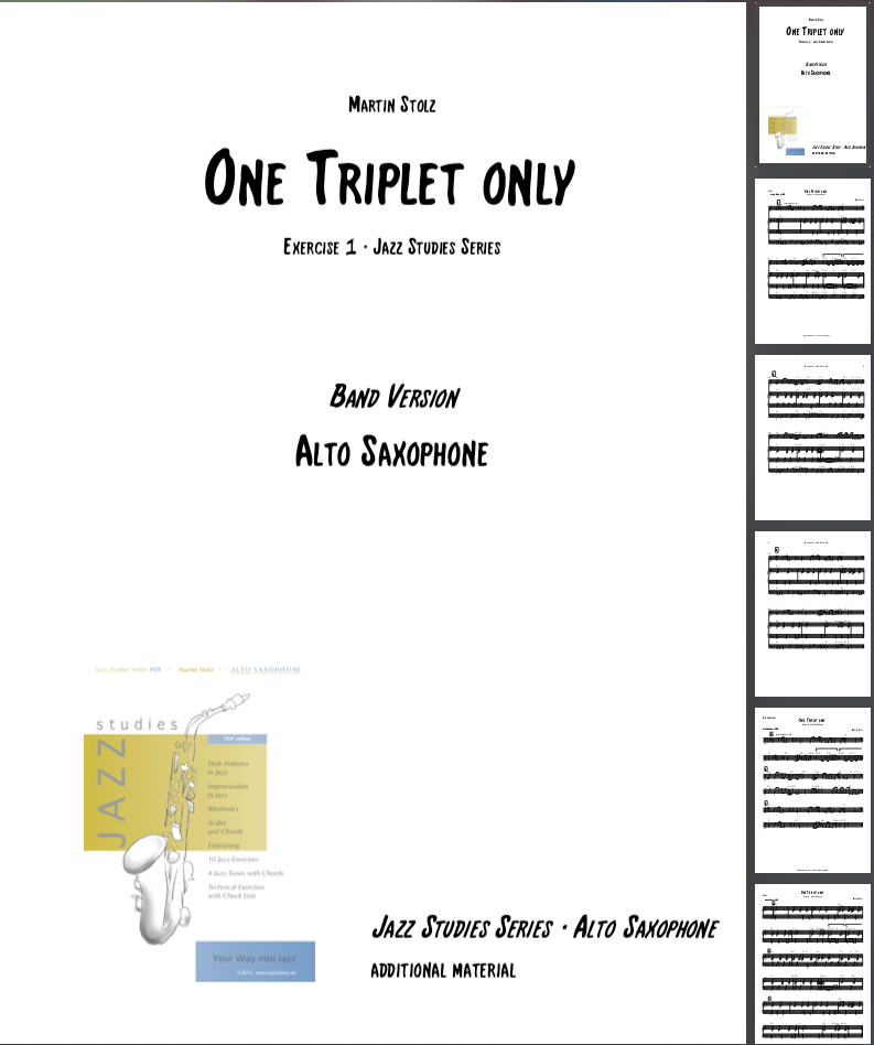 One Triplet only · Alto Saxophone & Band