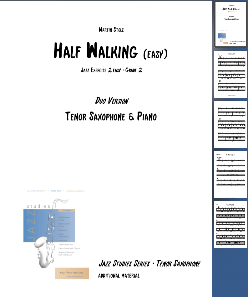 Half Walking (easy version) · Tenor Saxophone & Piano