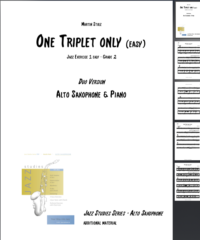 One Triplet only (easy version) · Alto Saxophone & Piano