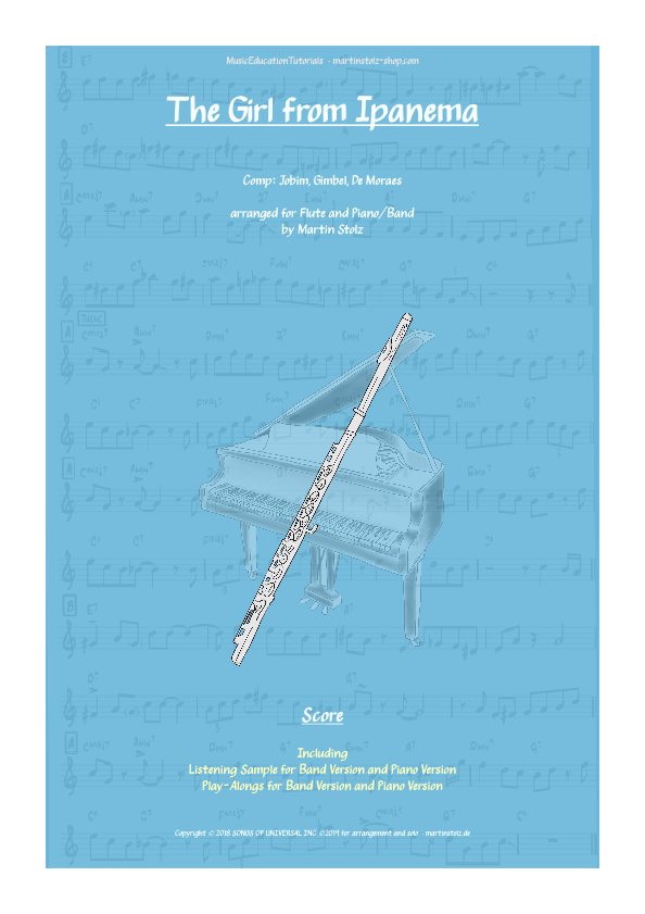 """""""The Girl from Ipanema"""" for Flute and Piano"""