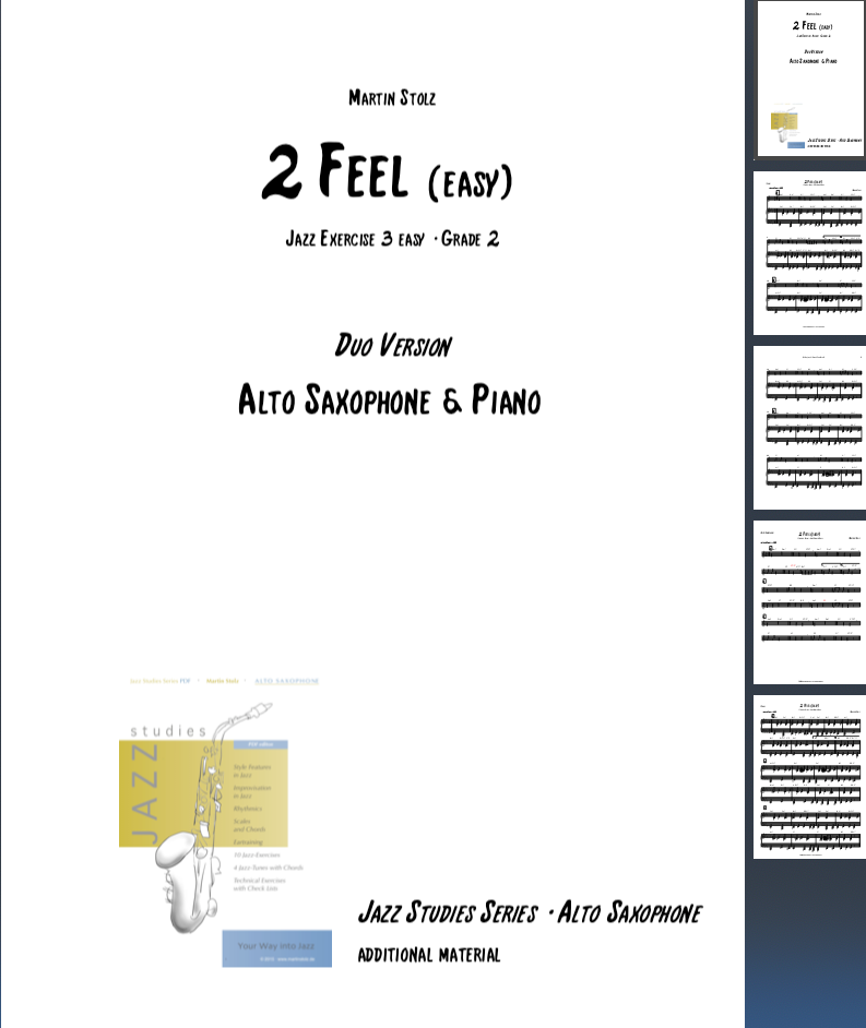2 Feel (easy version) · Alto Saxophone & Piano