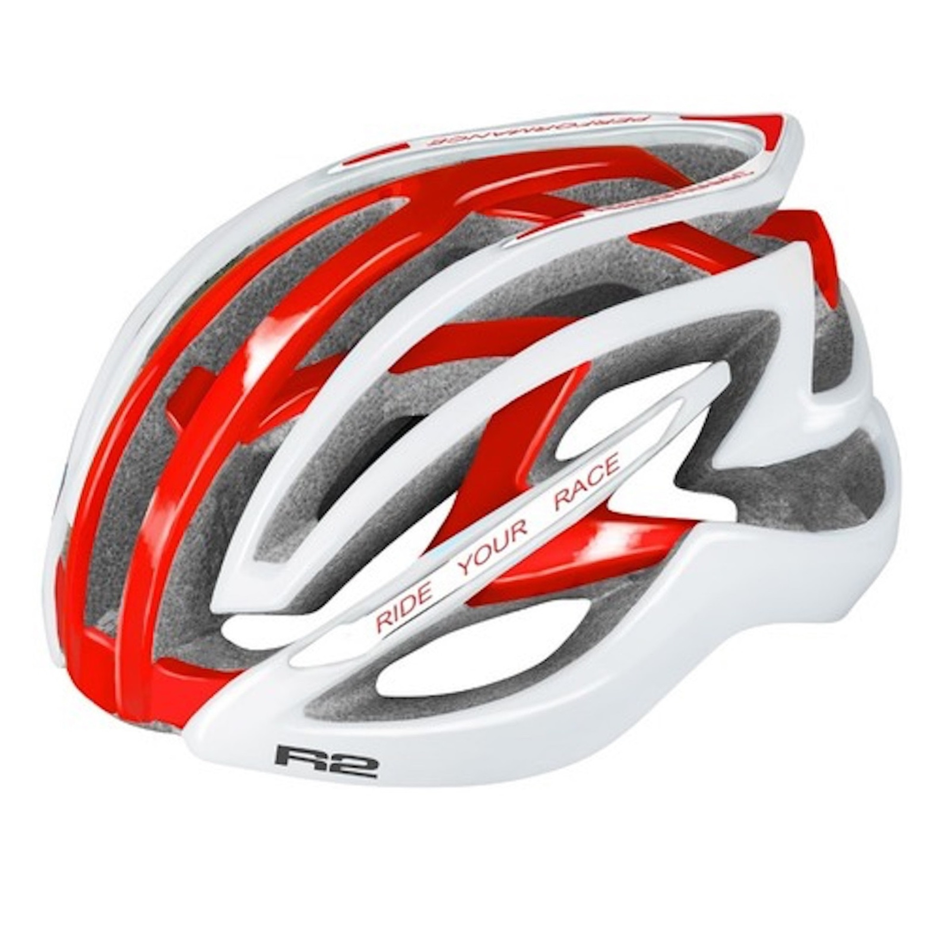 R2 EVOLUTION - Road Helmet / White, Red Glossy