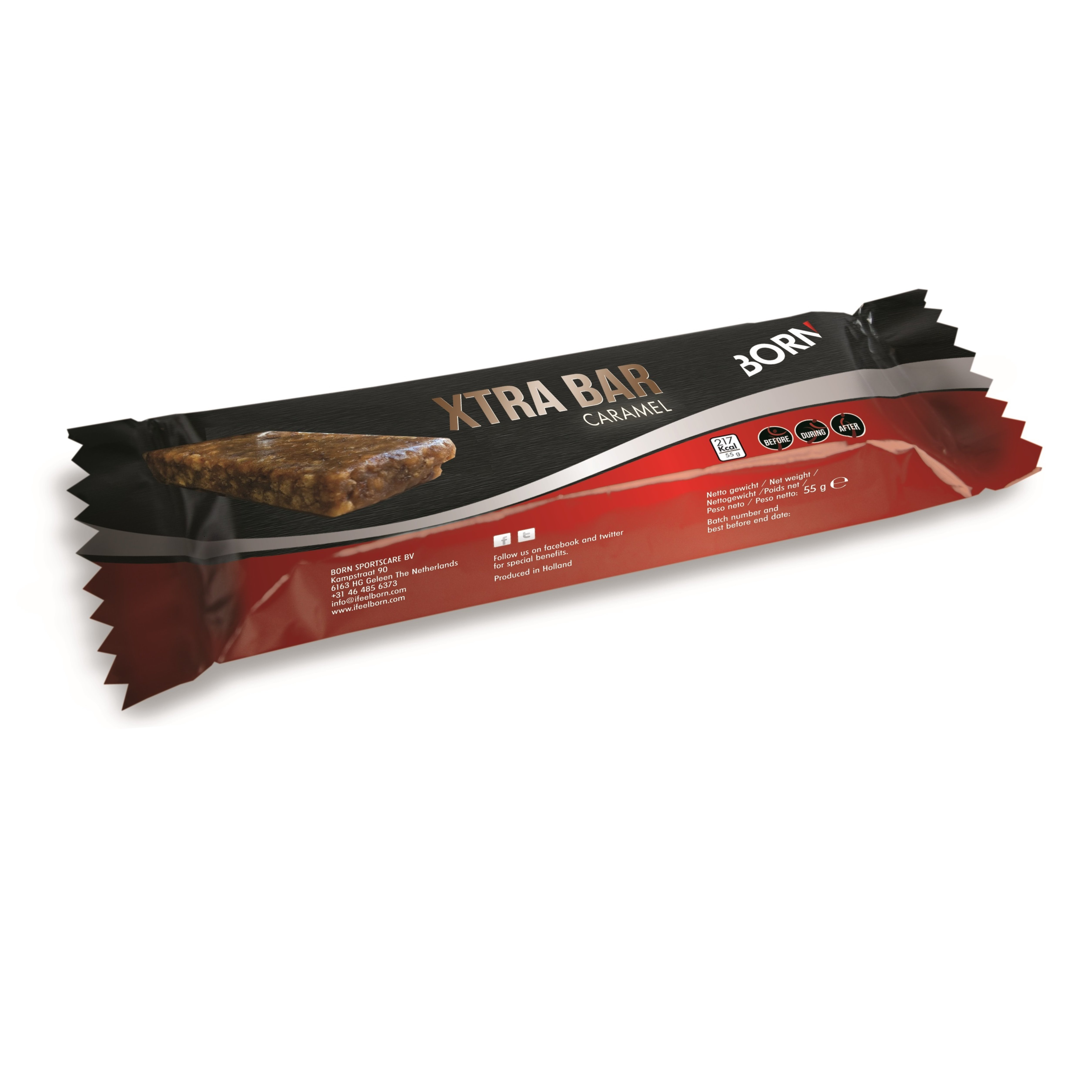 BORN Xtra Bar Caramel (55g)