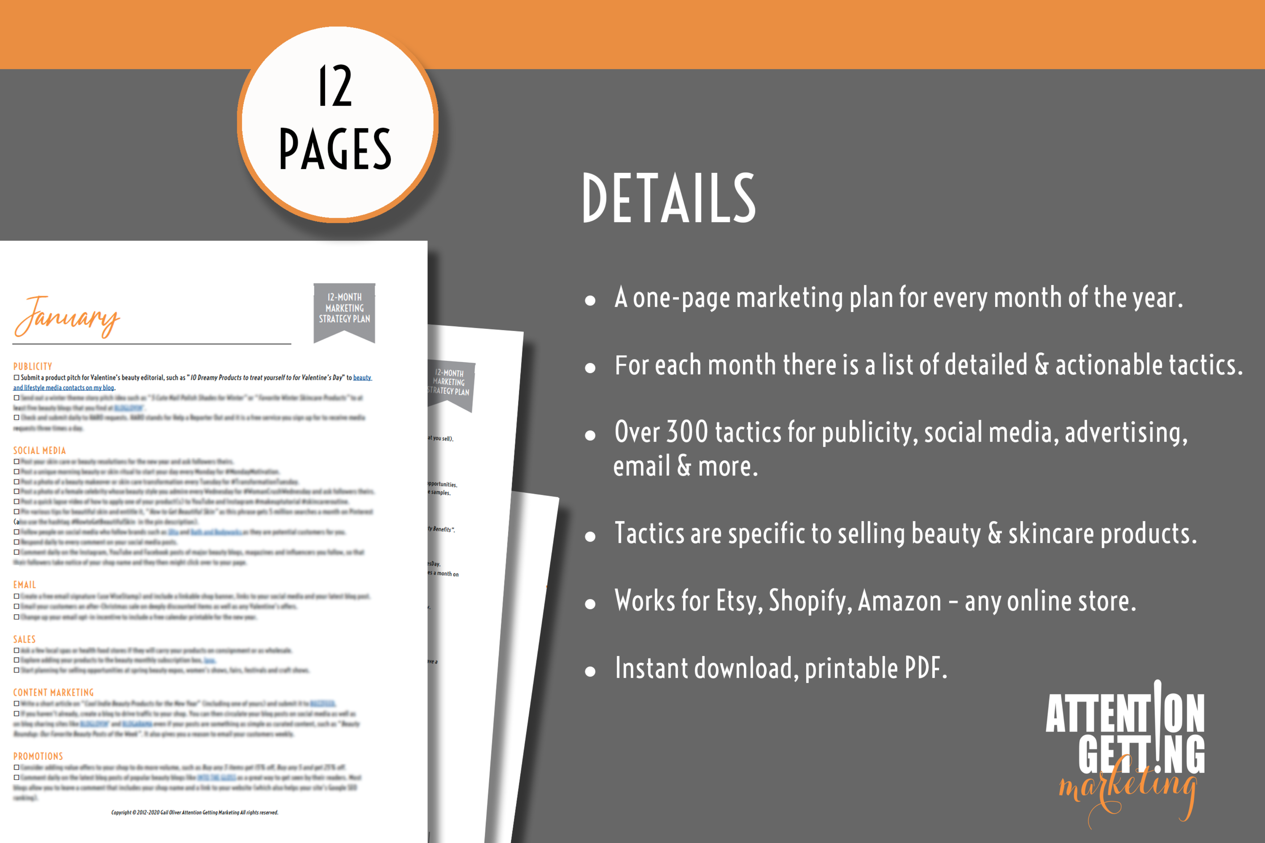12 Month Marketing Strategy Plan for Online Beauty & Skincare Shops