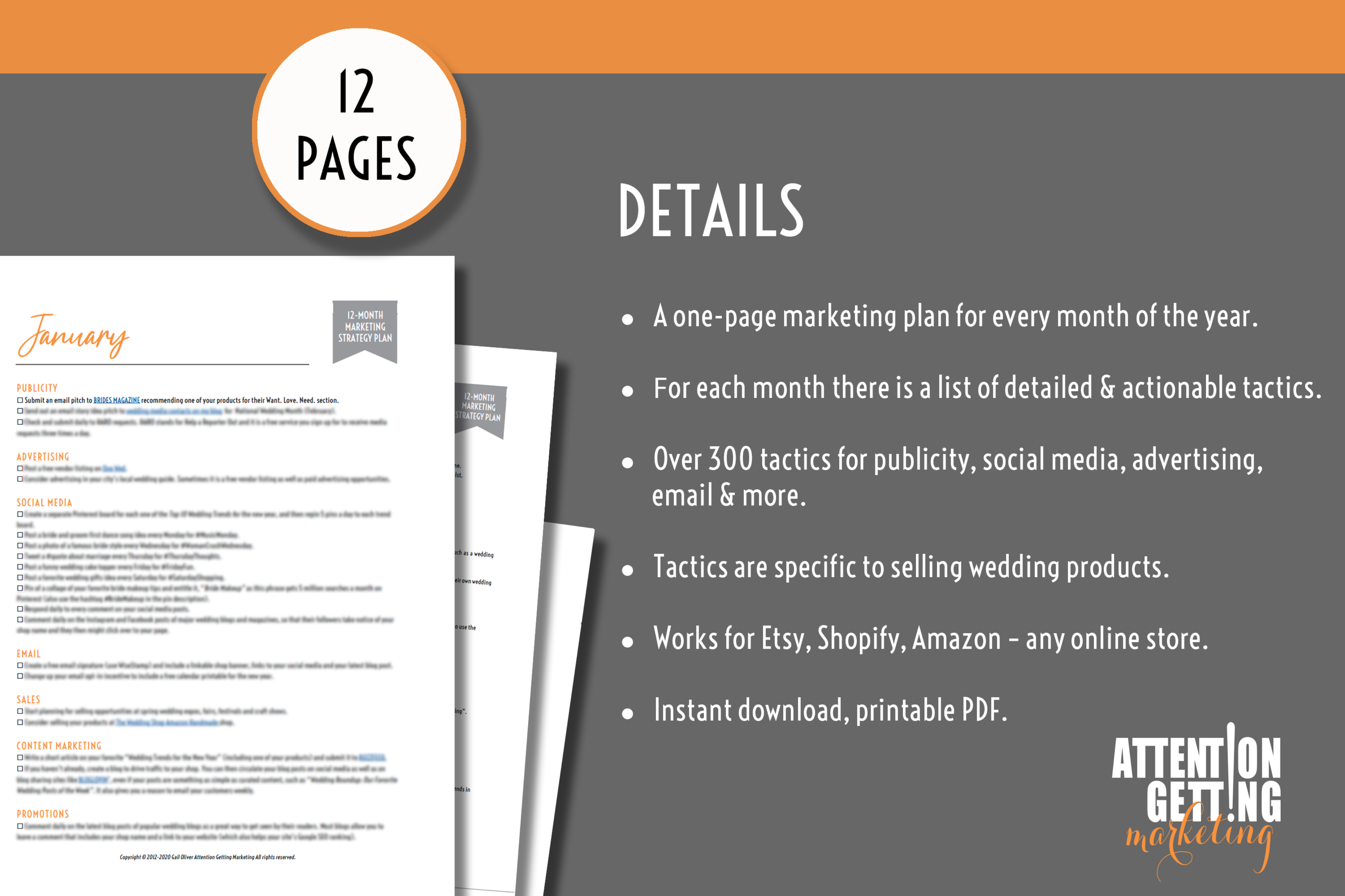 12 Month Marketing Strategy Plan for Online Wedding Shops