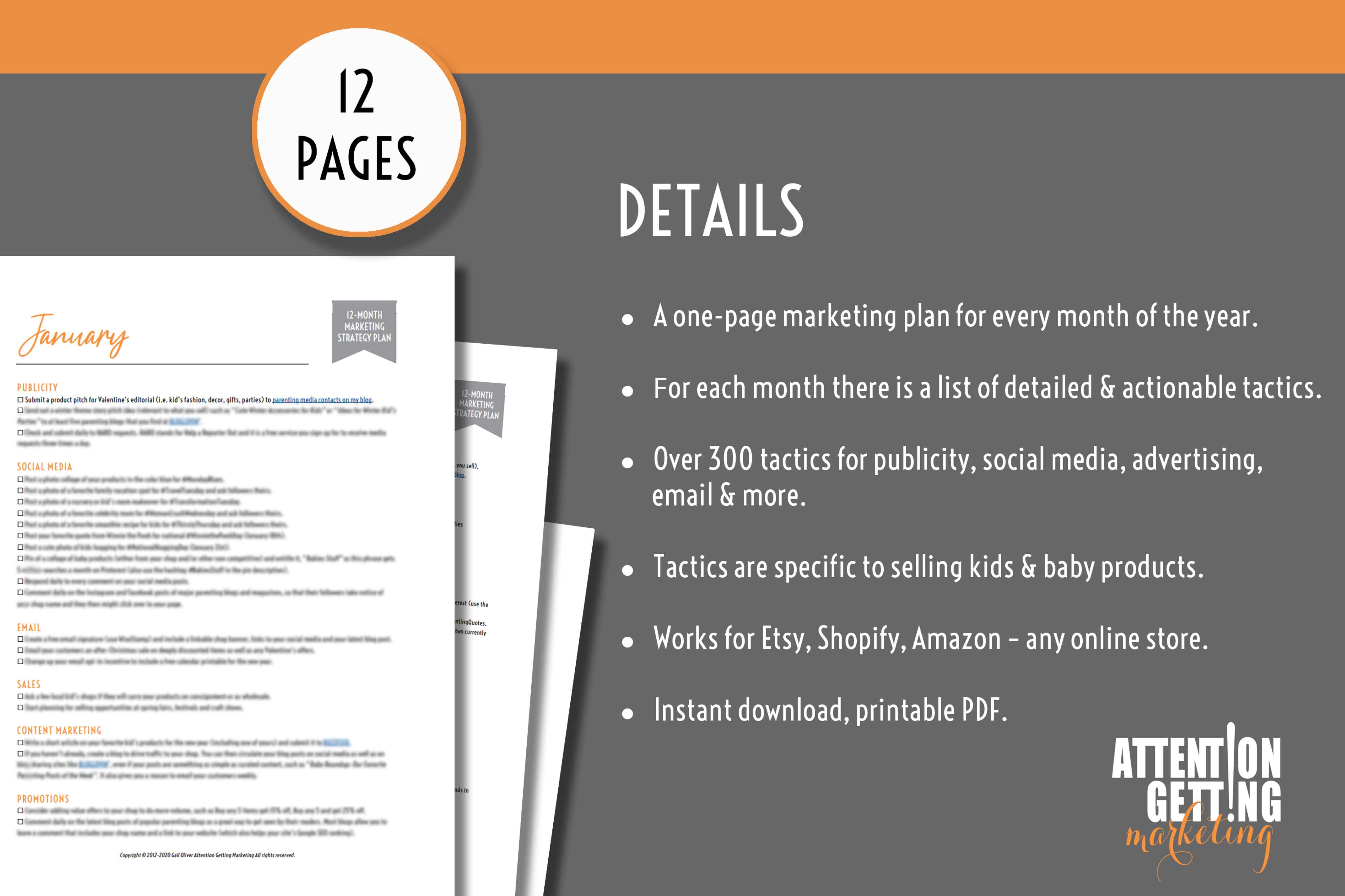 12 Month Marketing Strategy Plan for Online Kids & Baby Shops