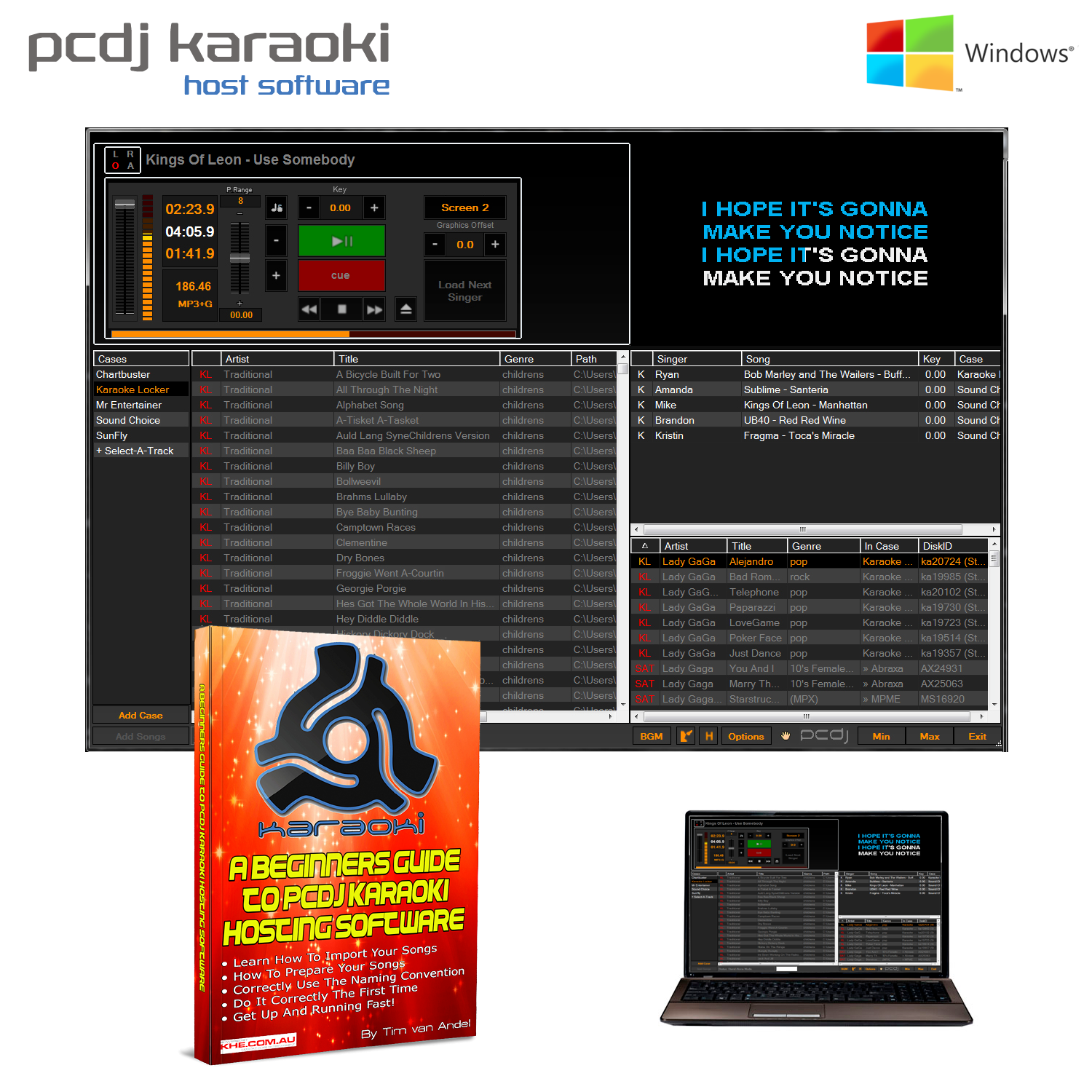 PCDJ Karaoki Hosting Software (Win PC)