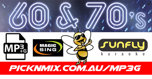 60's/70's Collection - 240 Sunfly Karaoke Songs (MP3+G / Magic Sing)