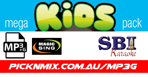 Kids Mega Pack - 224 SBI Karaoke Songs (MP3+G / Magic Sing)