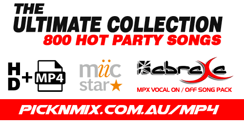 The Ultimate Collection - 800 Vocal On/Off Songs (MP4 - HD - ABRAXA - Miic Star)