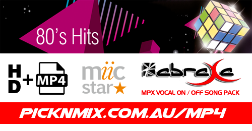 80's Collection - 100 Vocal On/Off Songs (MP4 - HD - ABRAXA - Miic Star)