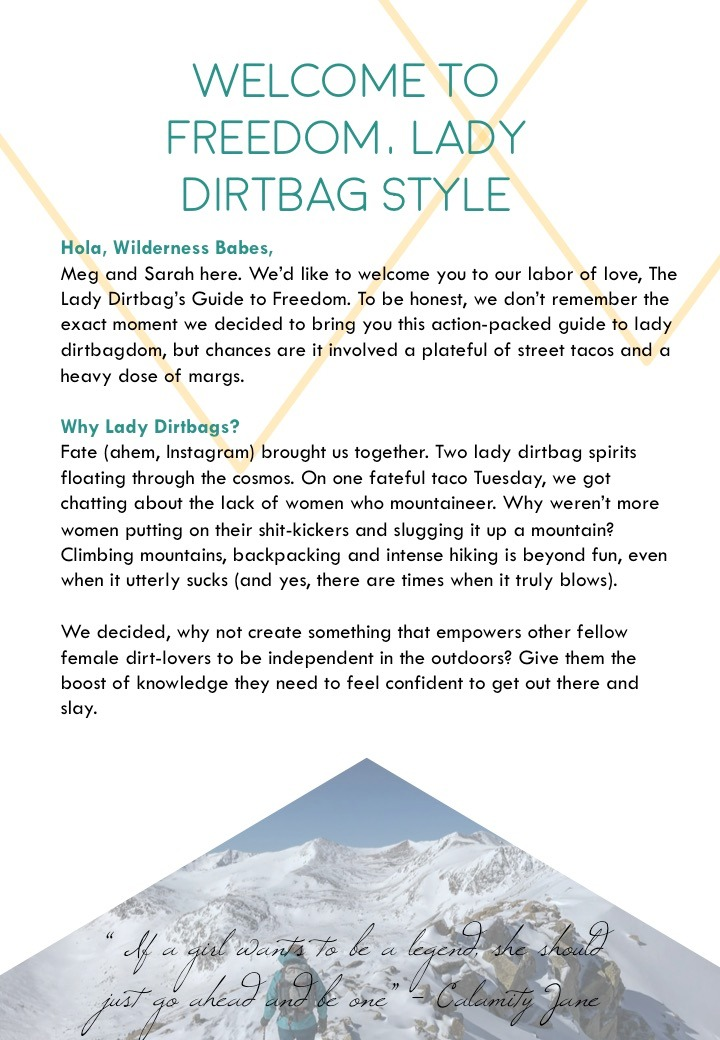 The Lady Dirtbag's Guide to Freedom