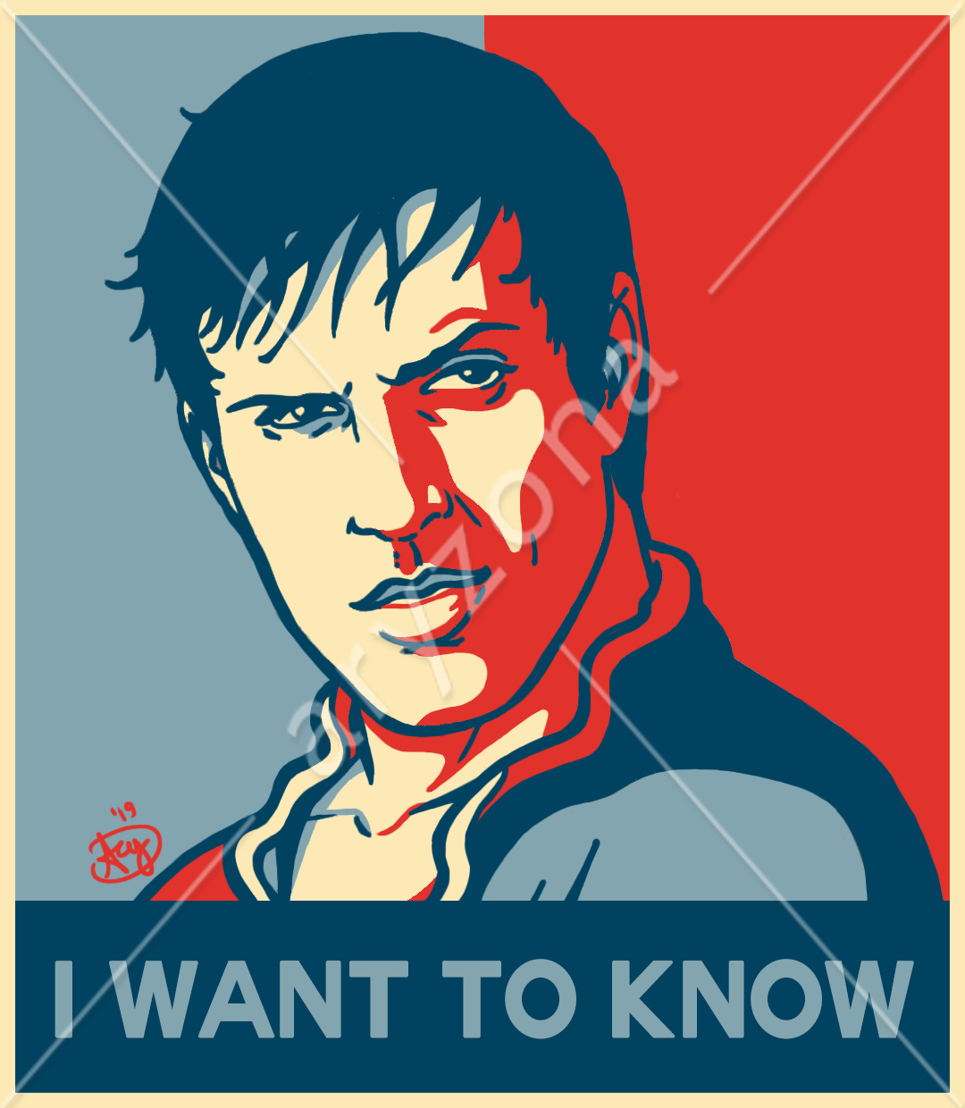 """""""I WANT TO KNOW"""" - Adrian HOPE Poster"""