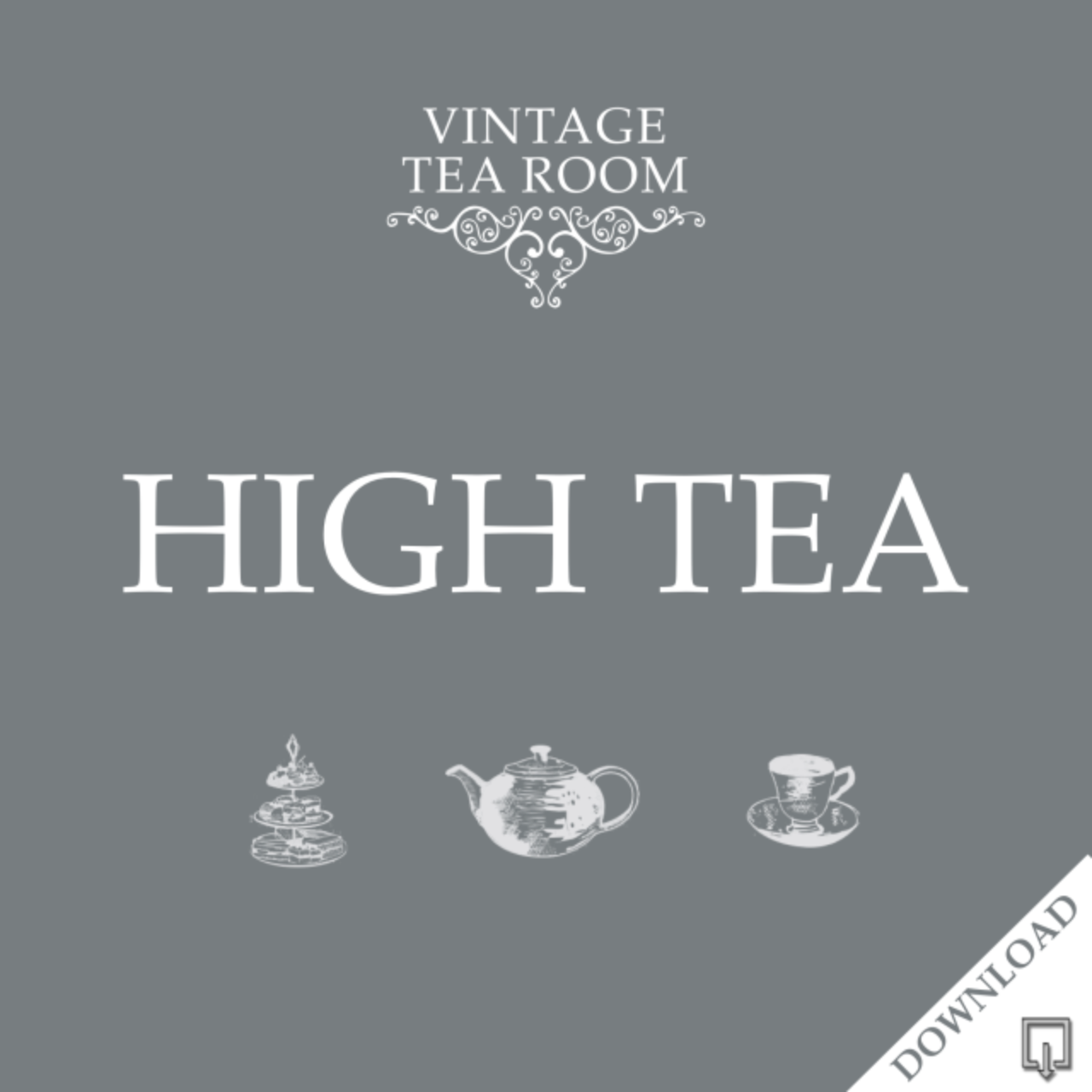 Vintage High Tea For Three - Downloadable Voucher