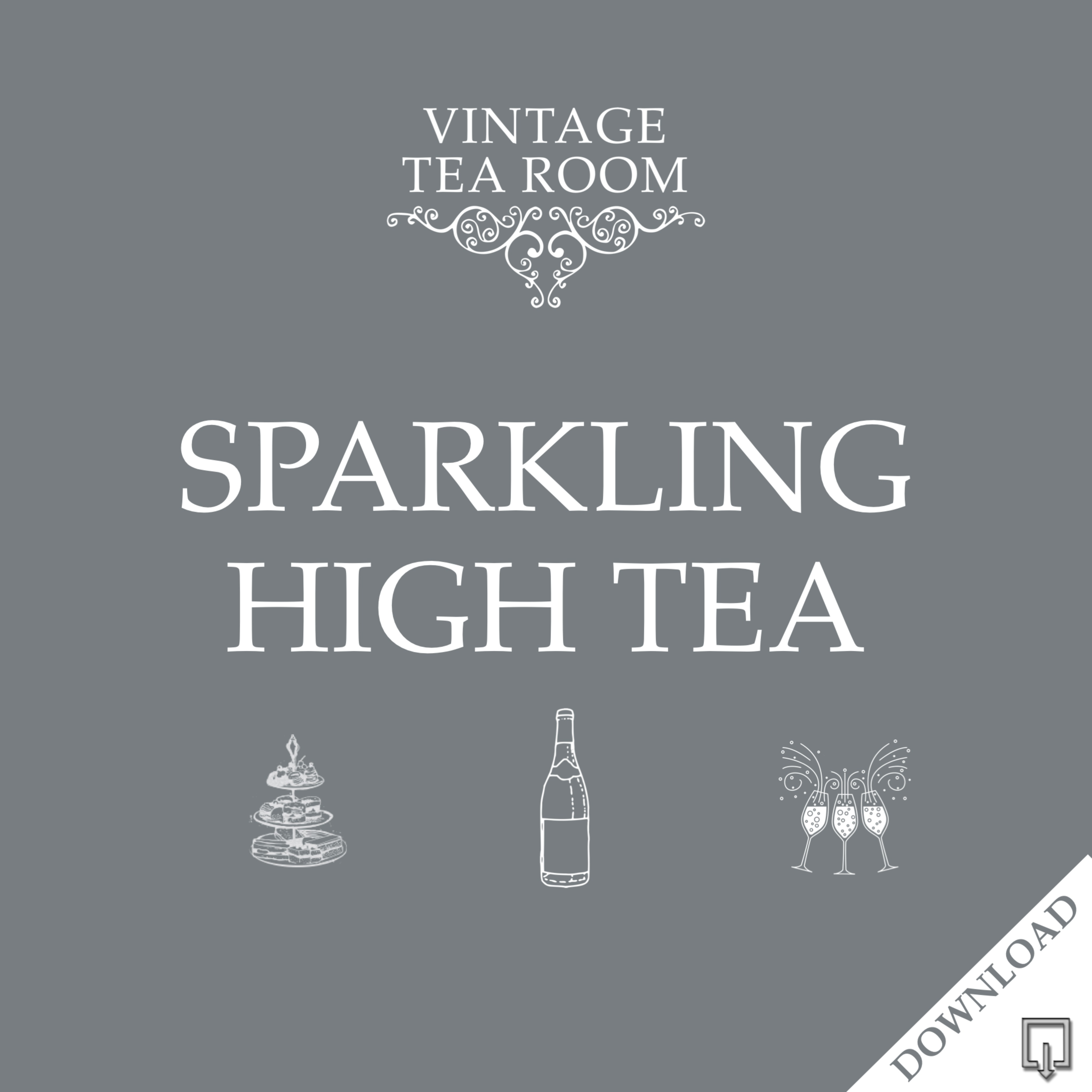 Vintage Sparkling High Tea For Two - Downloadable Voucher