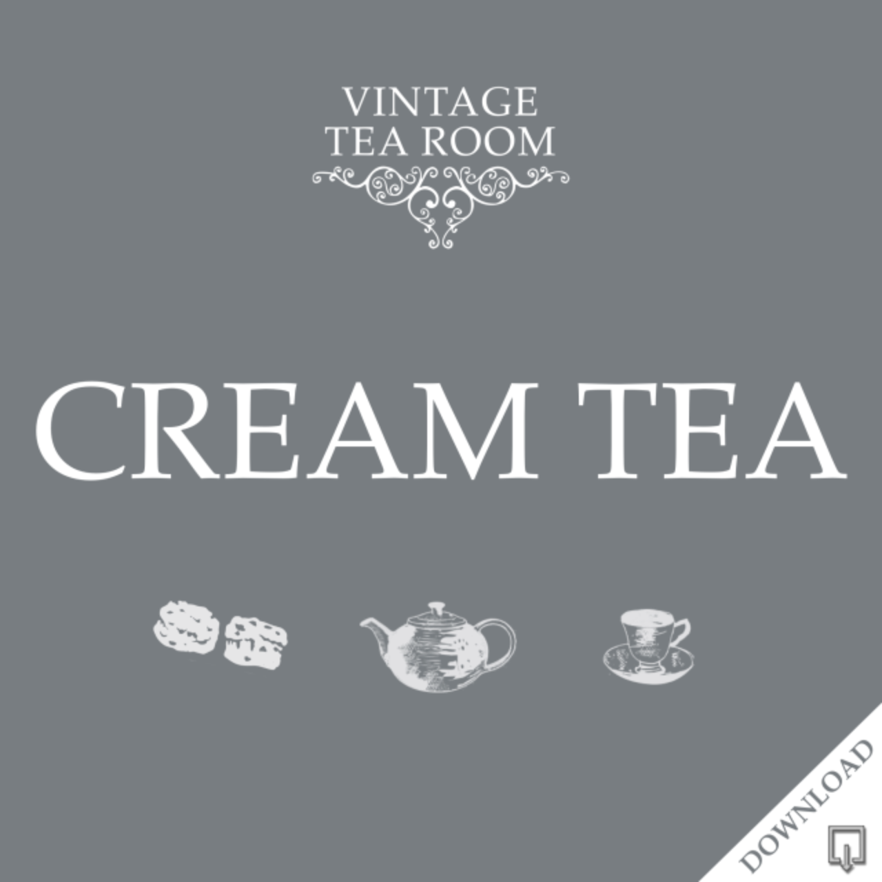 Vintage Cream Tea For Three - Downloadable Voucher