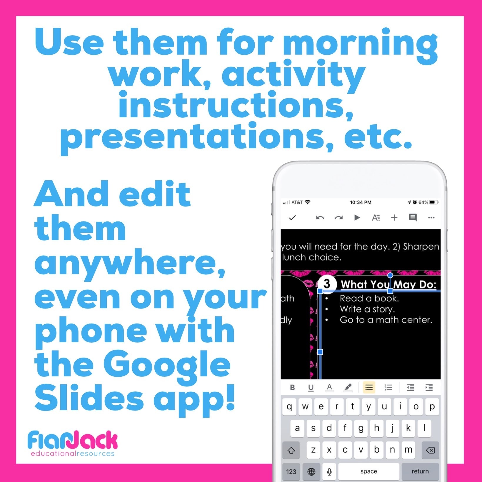 Editable Google Slide Templates | Pink And Black