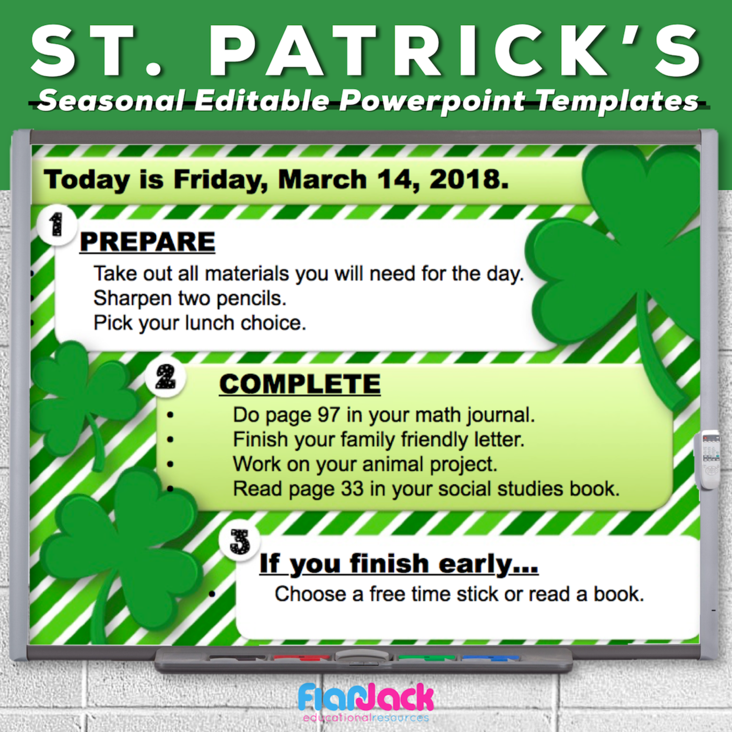 St. Patrick's Day Editable PowerPoint Templates