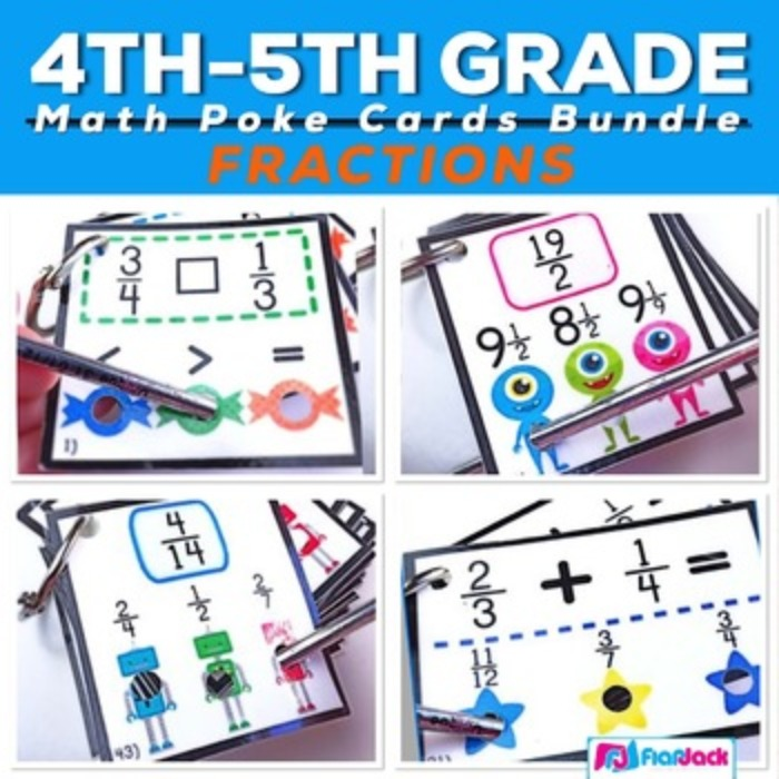 Fraction Poke Game Bundle (Common Core Based)