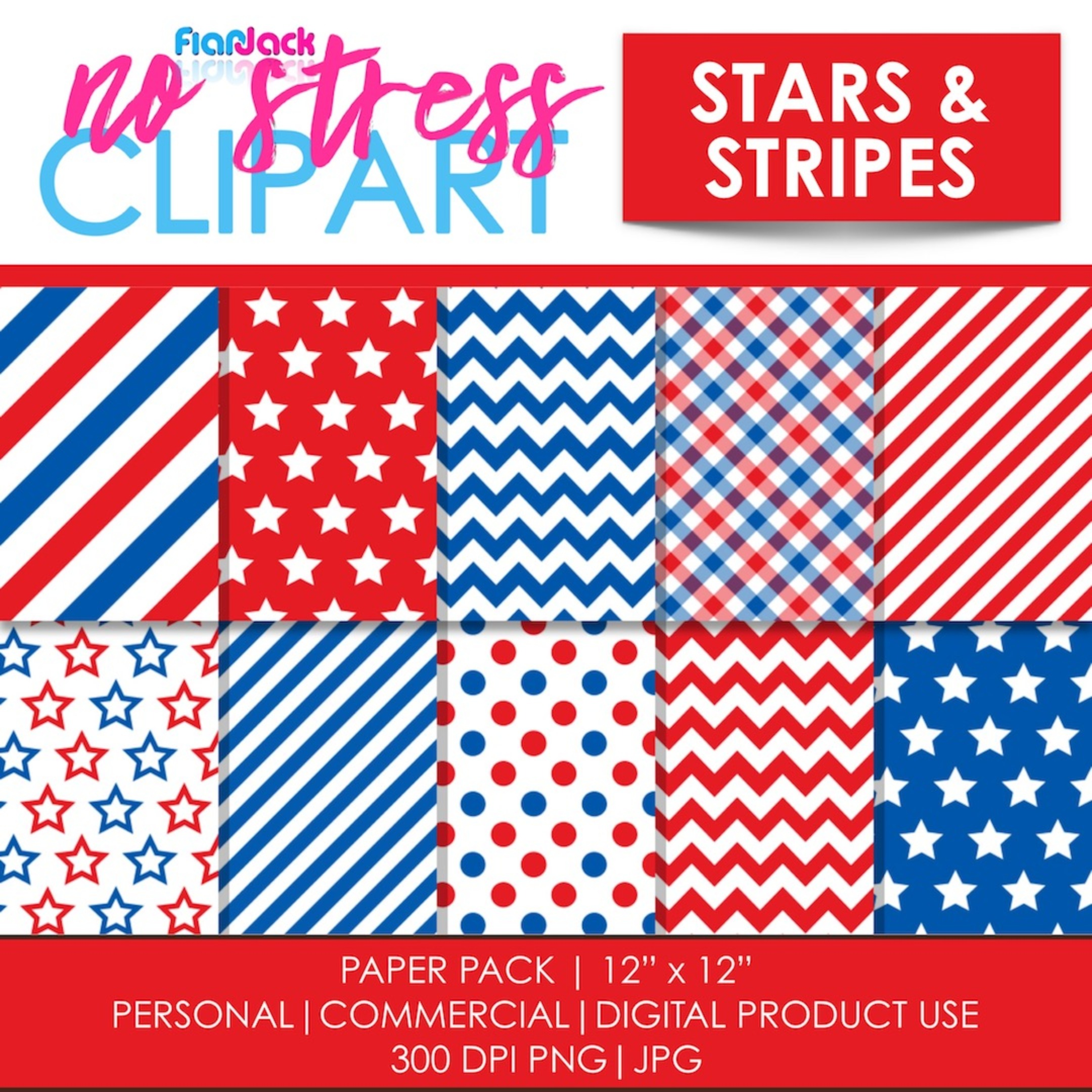 Stars And Stripes Digital Papers