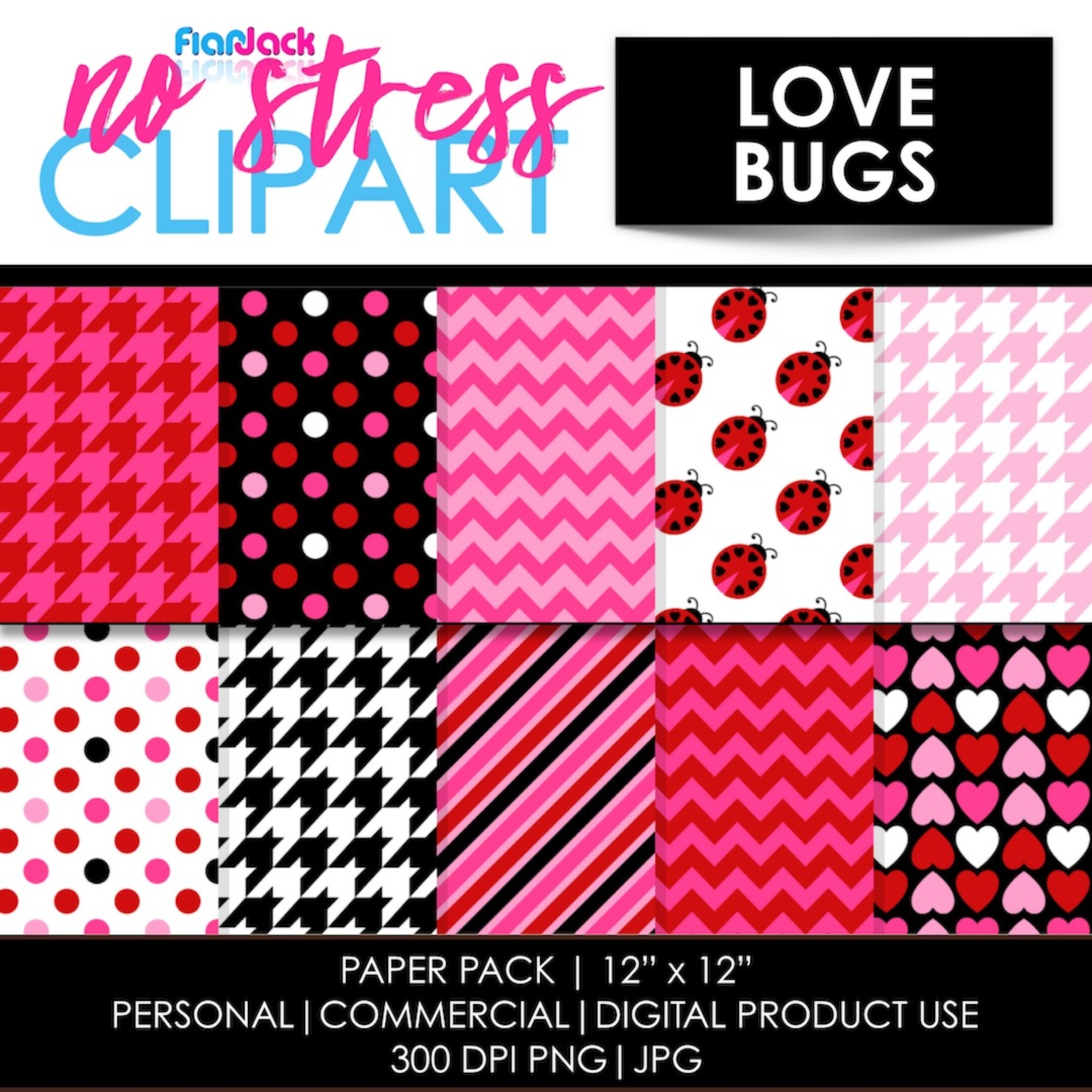 Love Bug Digital Papers