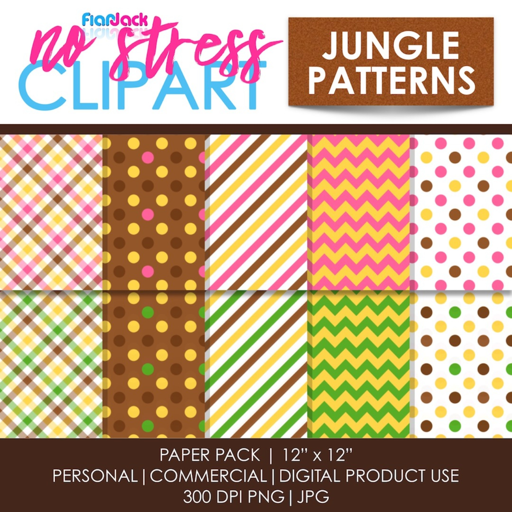 Jungle Patterns Digital Papers