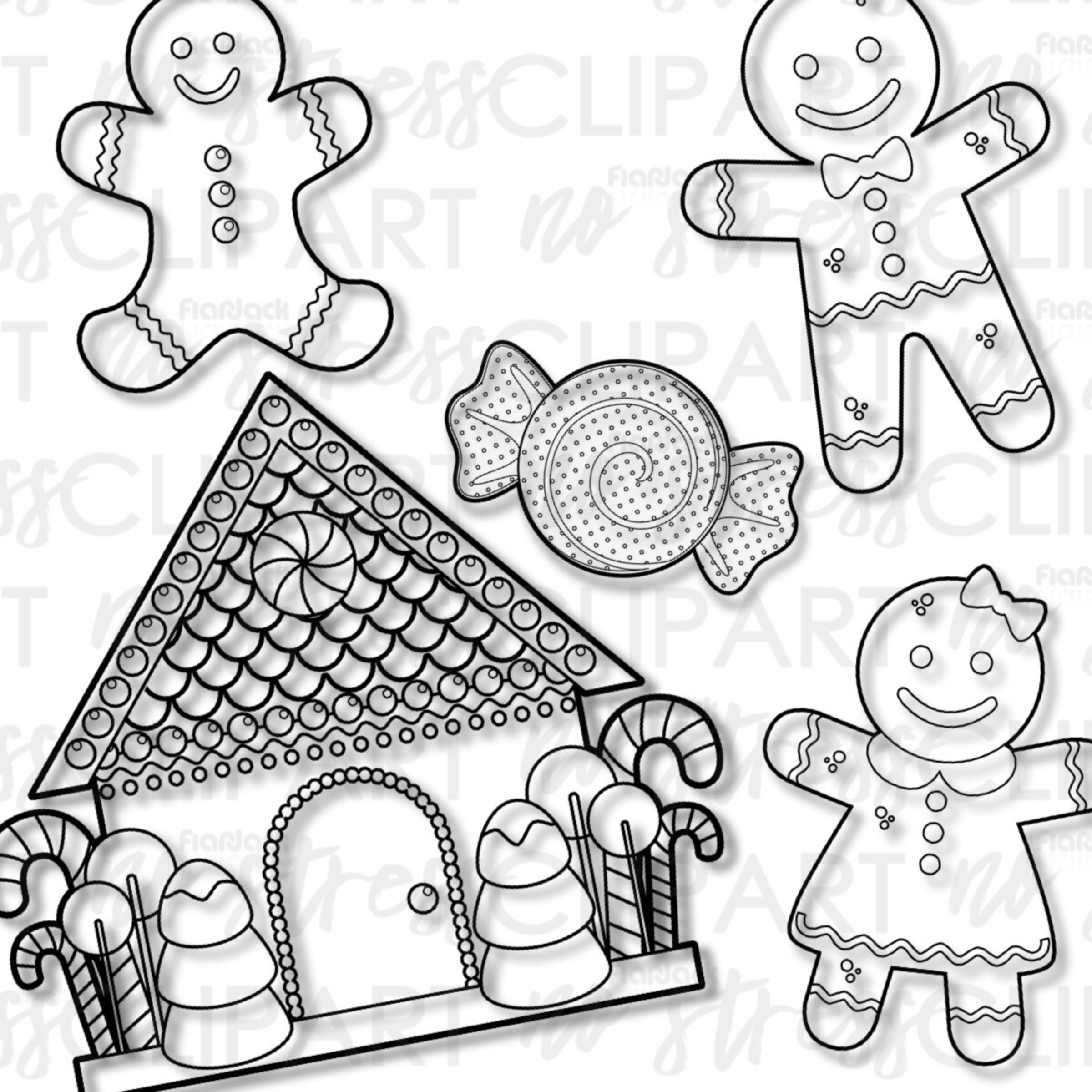 Gingerbread Cookies And House