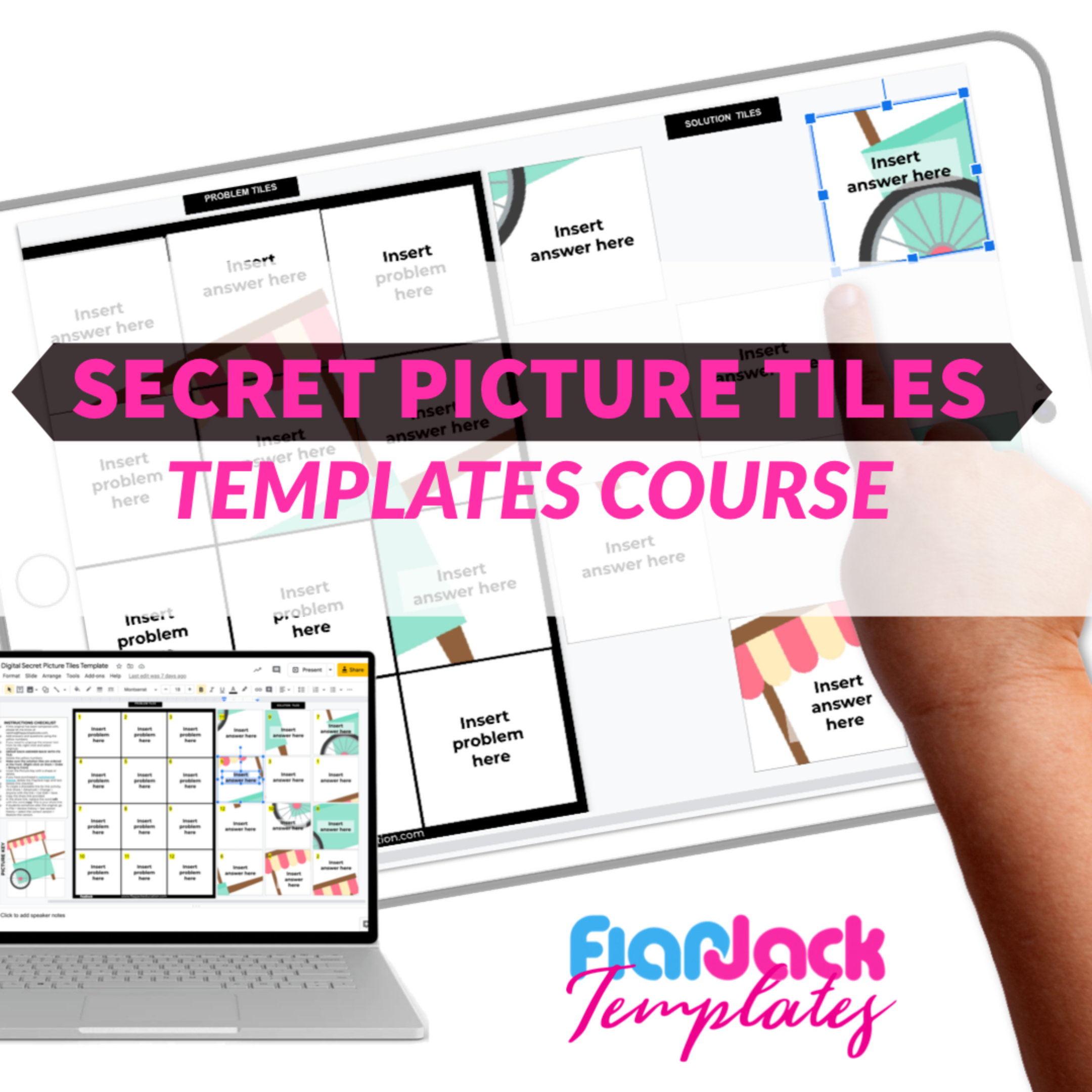 Secret Picture Tile Templates Course