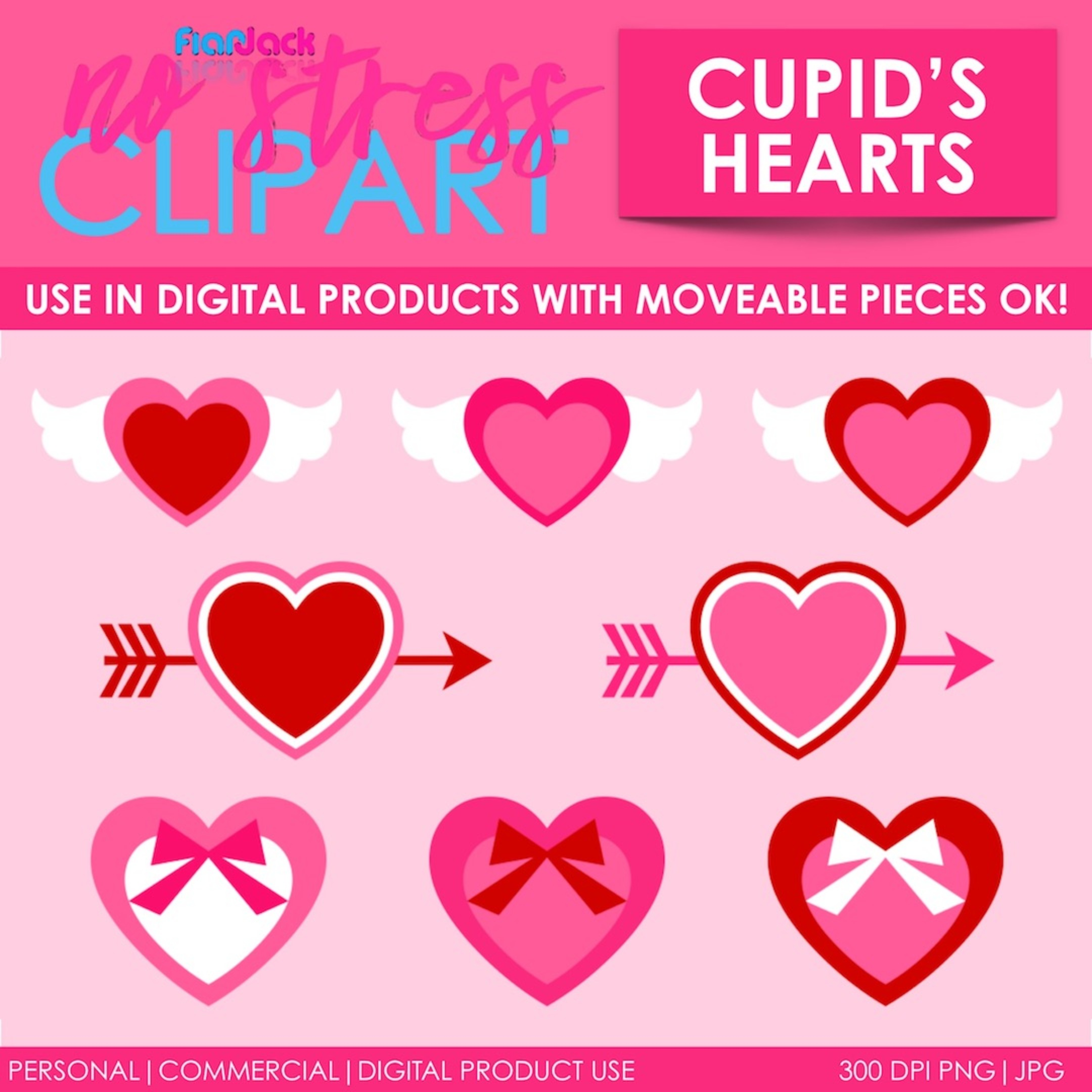 Valentine Cupid's Hearts