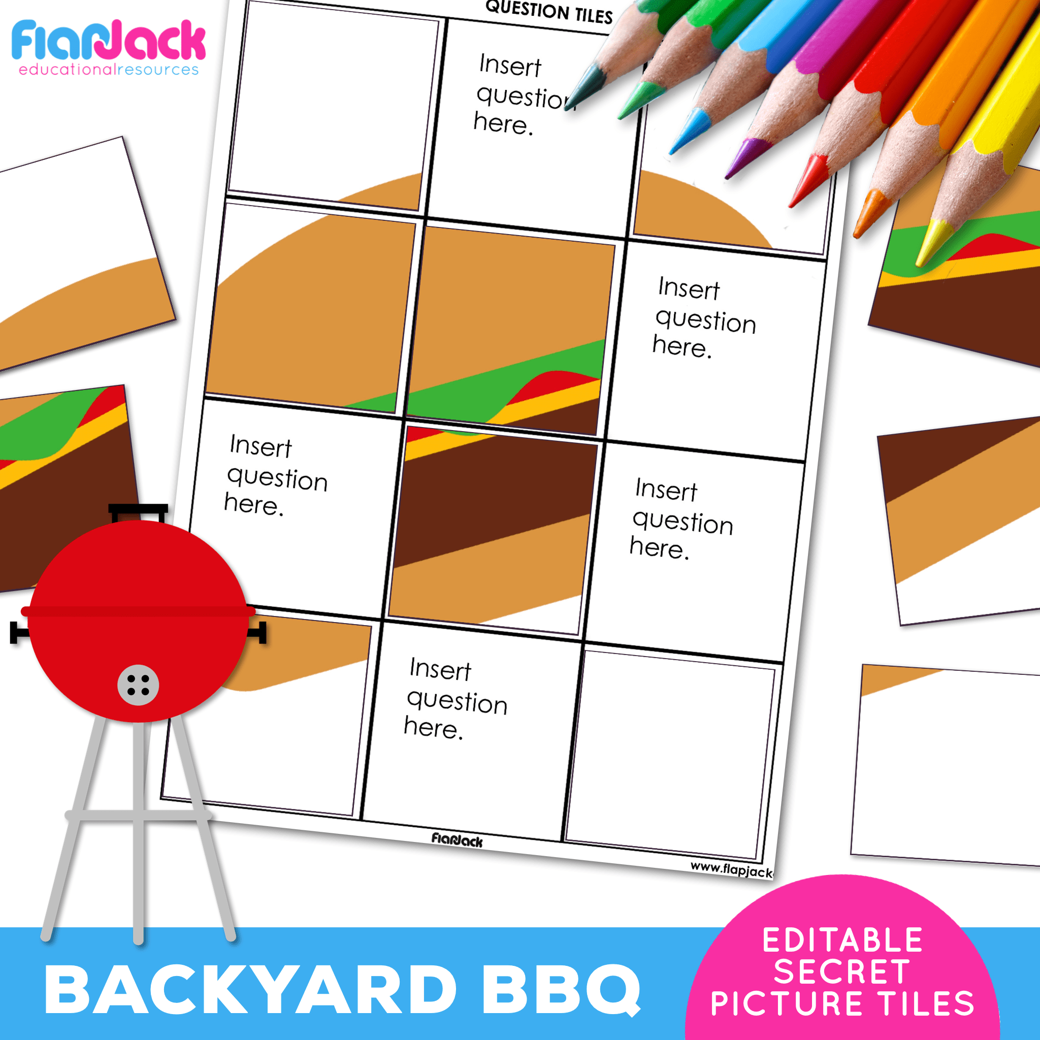 Printable EDITABLE Worksheets | Backyard BBQ