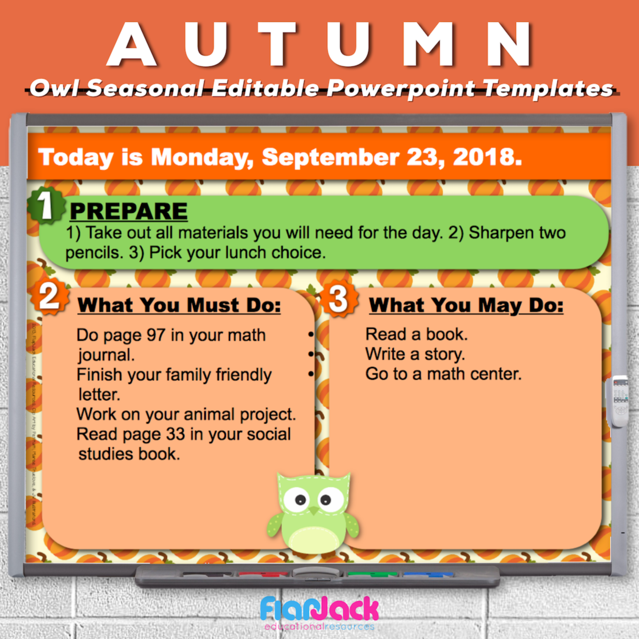 Autumn Owl Editable PowerPoint Templates