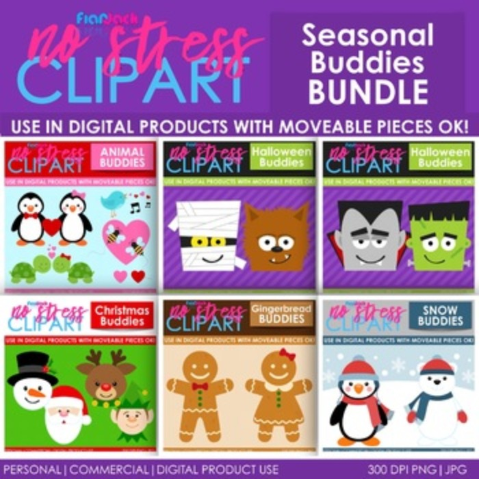 Seasonal BUDDIES Clipart BUNDLE