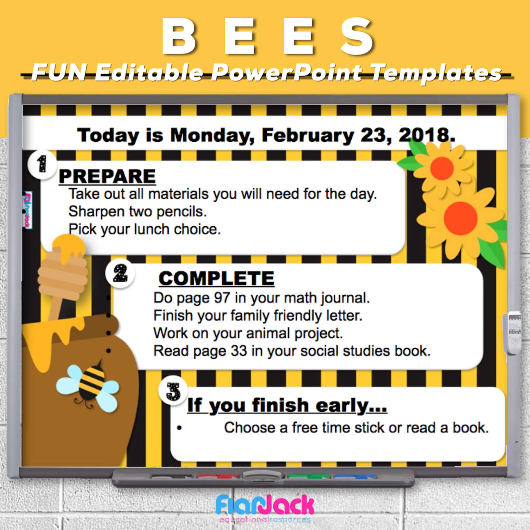 Bees Editable PowerPoint Templates