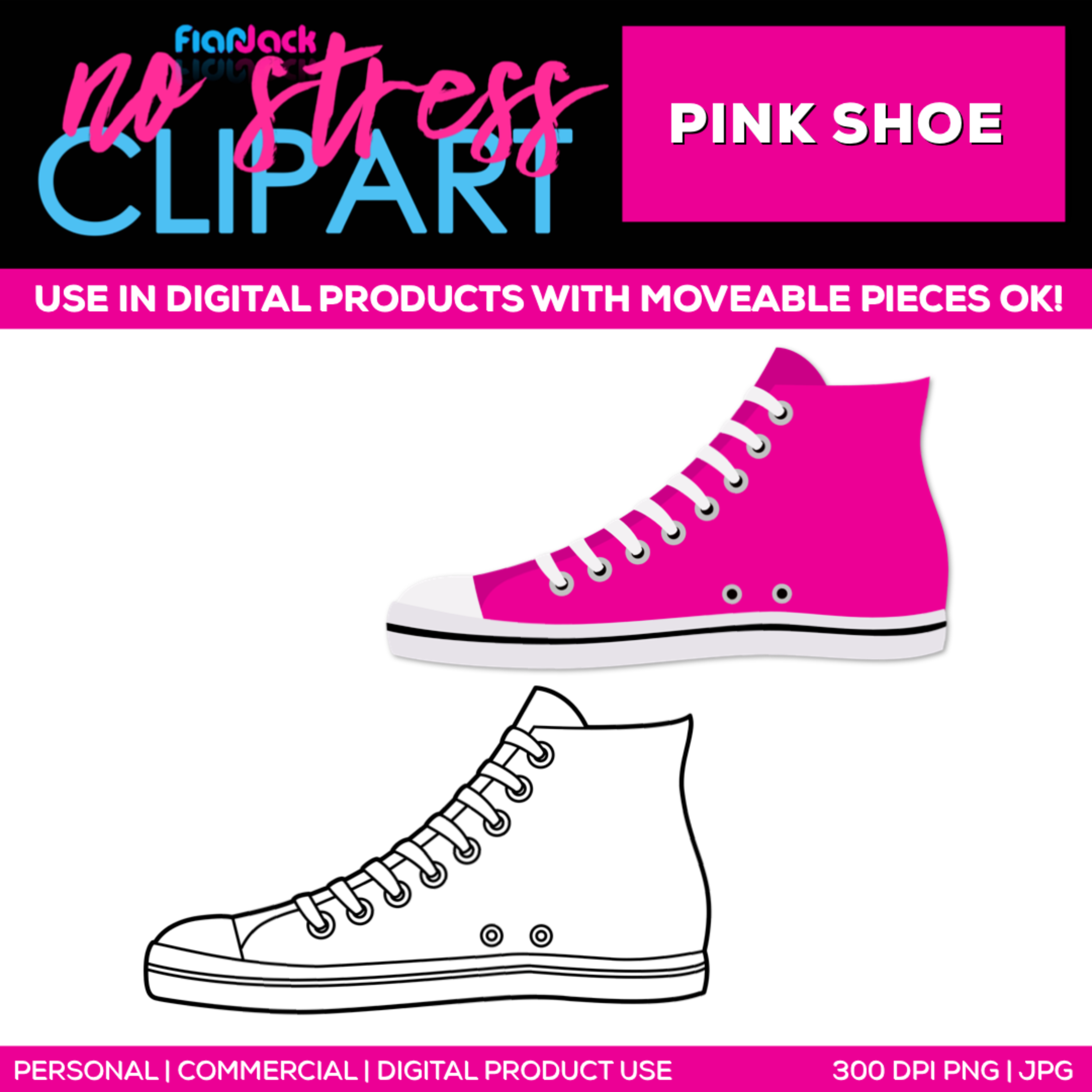 Pink Shoe Clipart