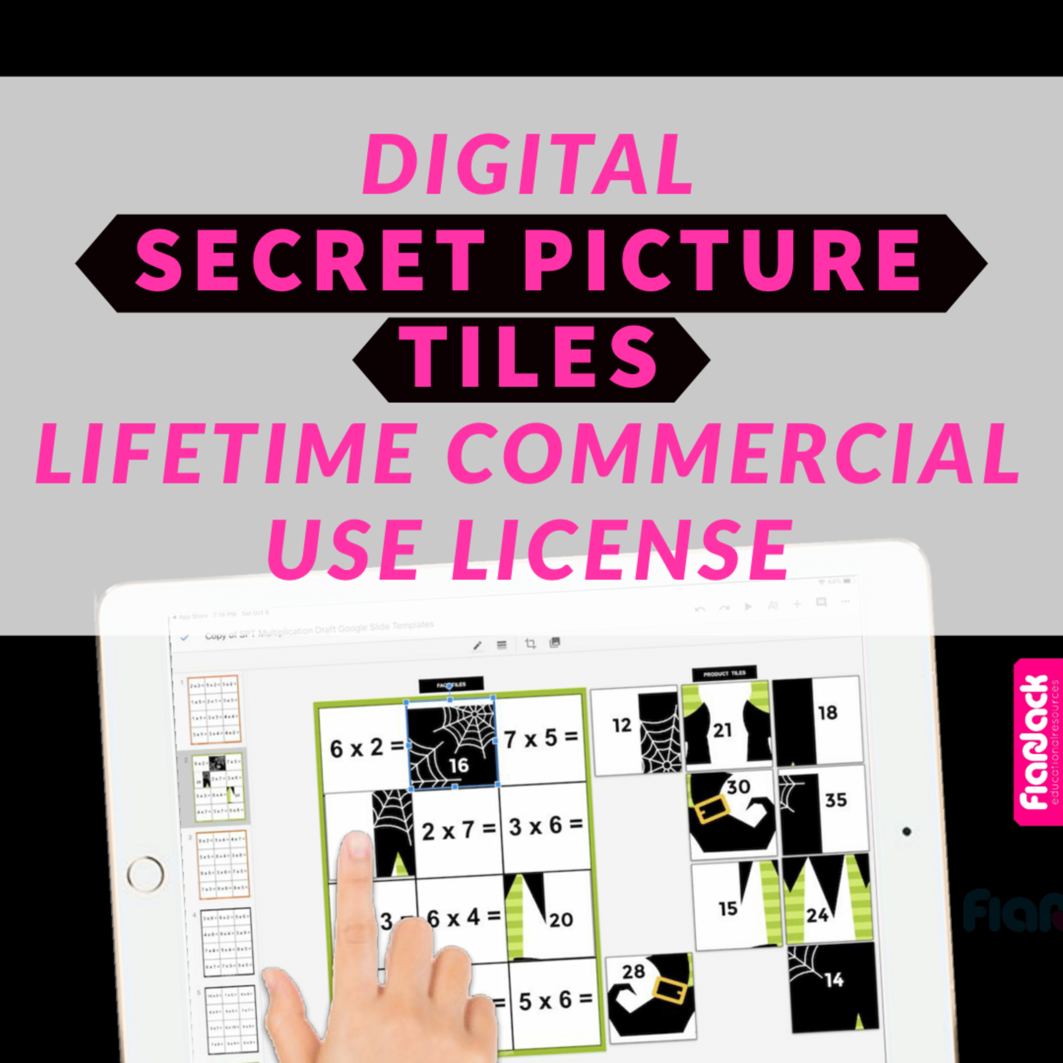 Digital Secret Picture Tiles Lifetime Commercial Use License