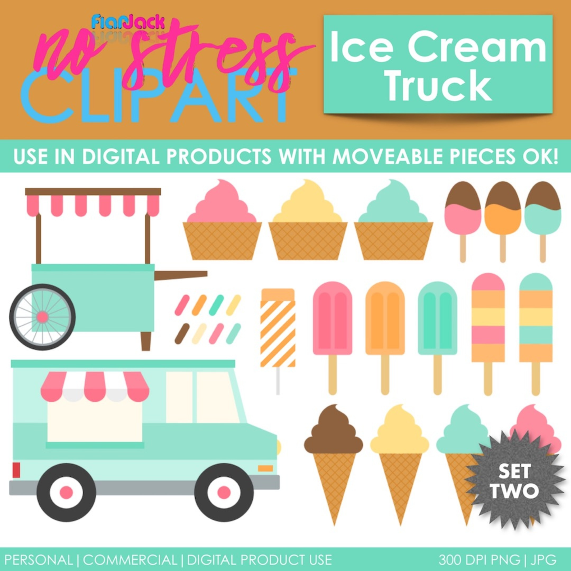 Ice Cream Truck Treats (Pastel)