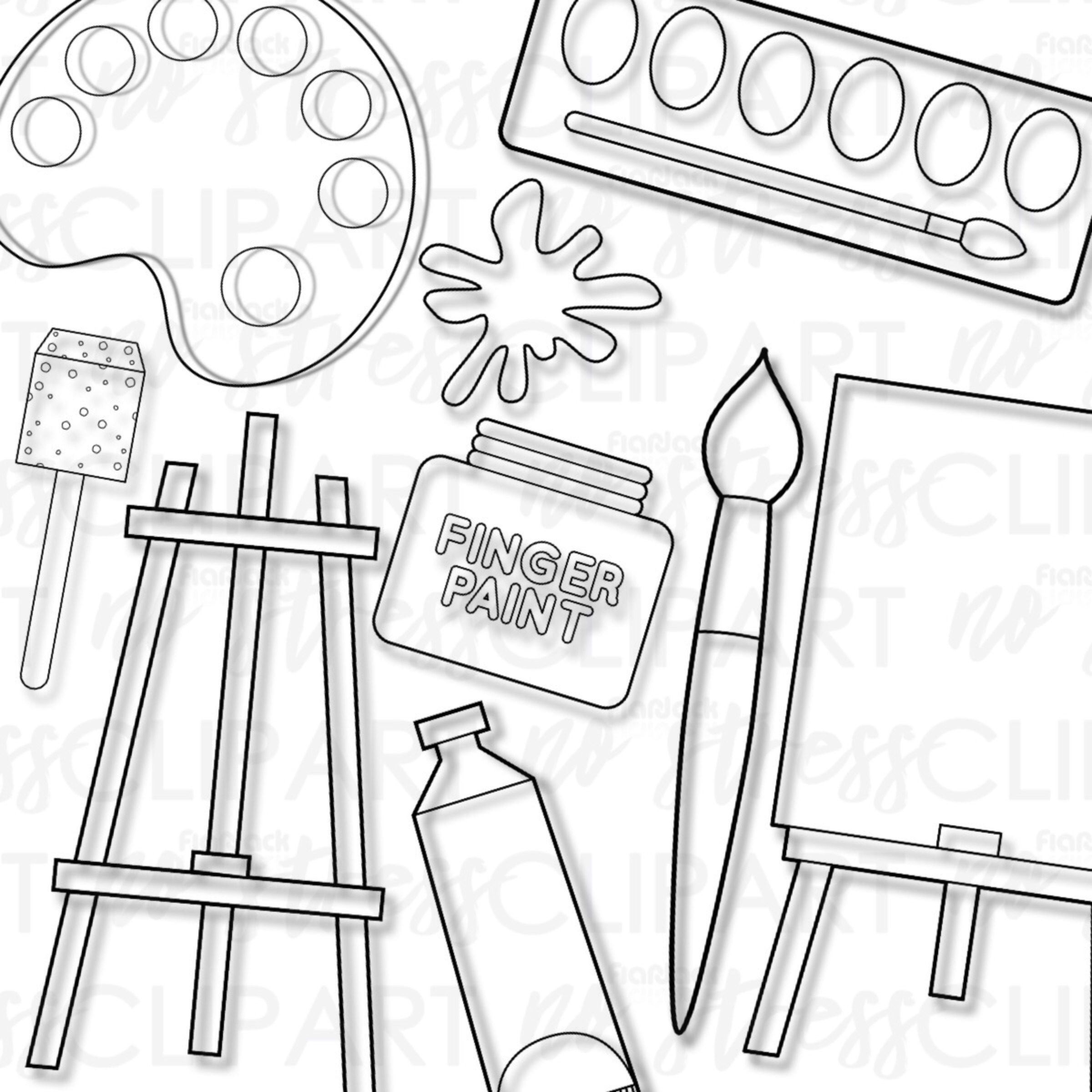 Painting Supplies (Bright Version)