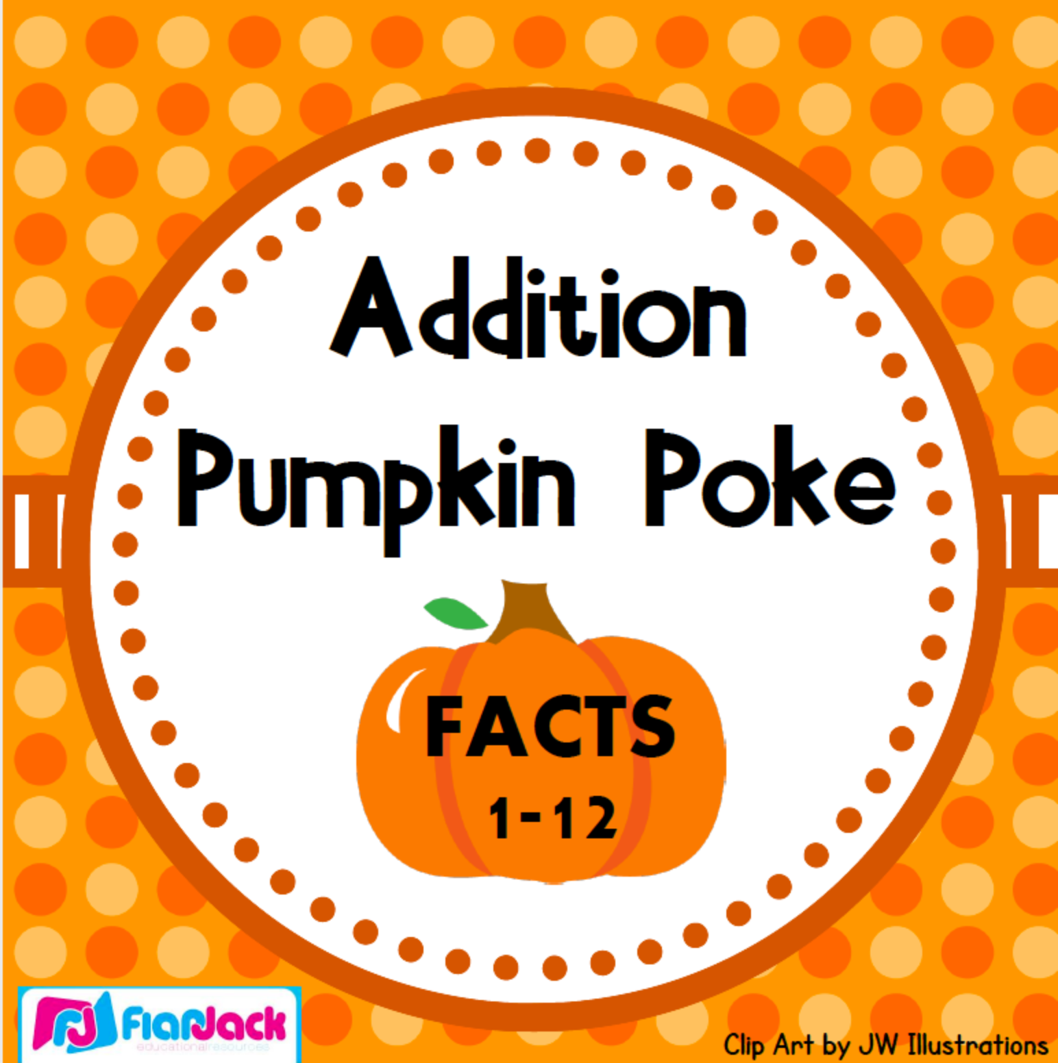 Free Addition Facts 1-12 Pumpkin Poke Game