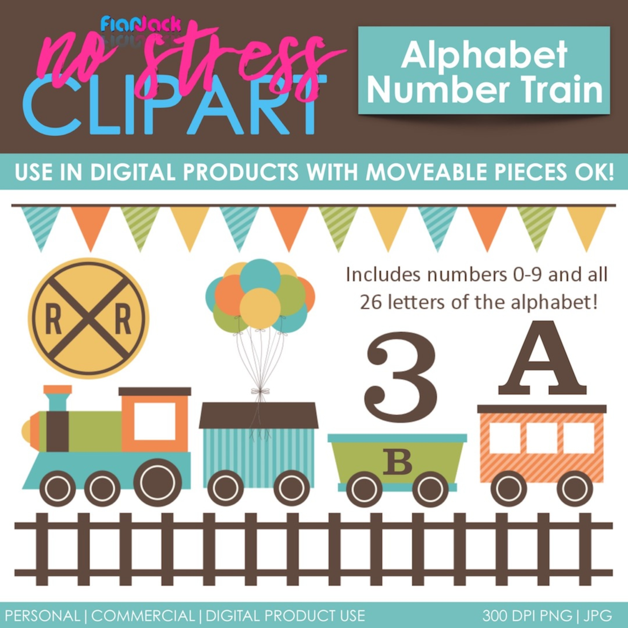 Alphabet Number Train (Blue Set)
