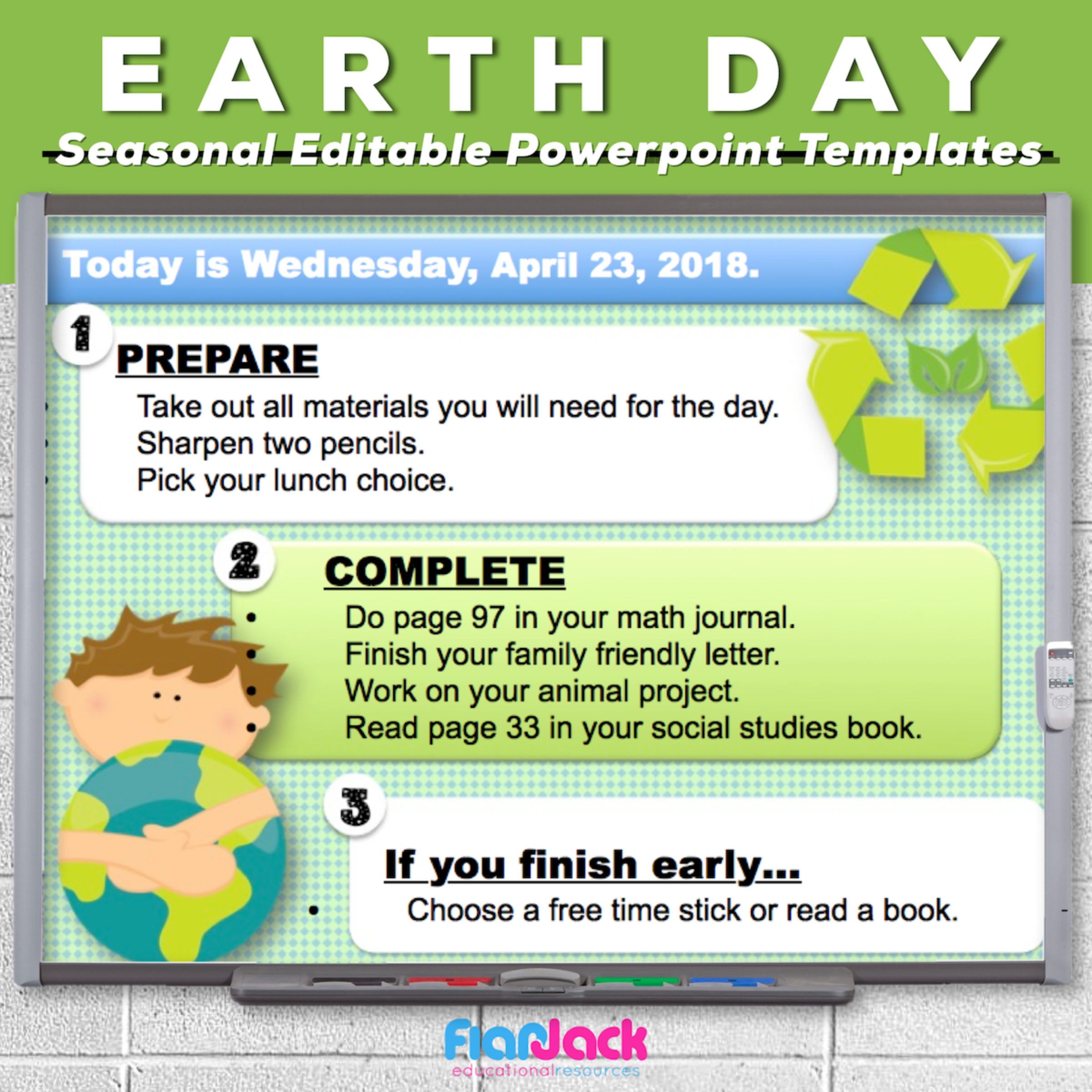 Earth Day Editable PowerPoint Templates