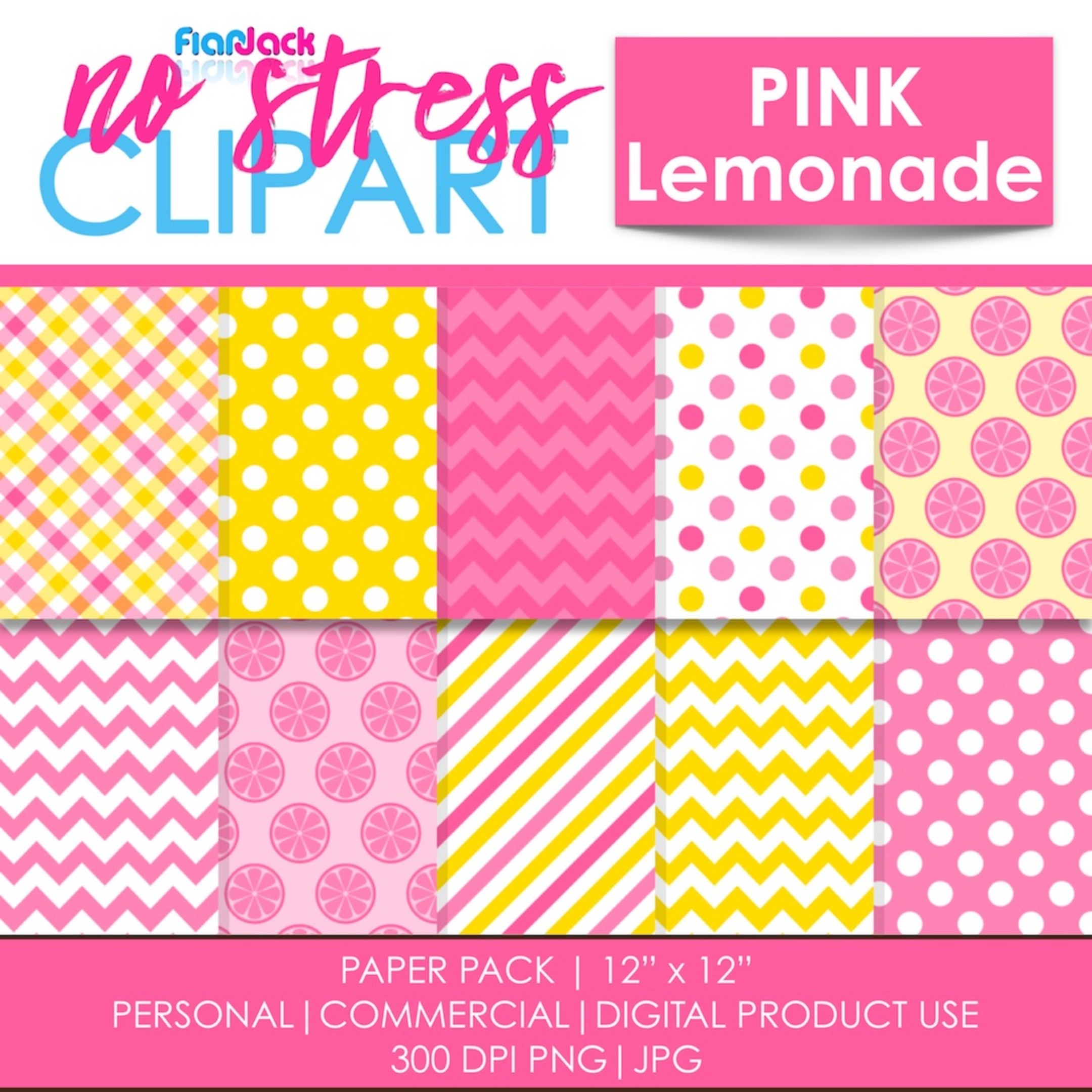 Pink Lemonade Digital Papers
