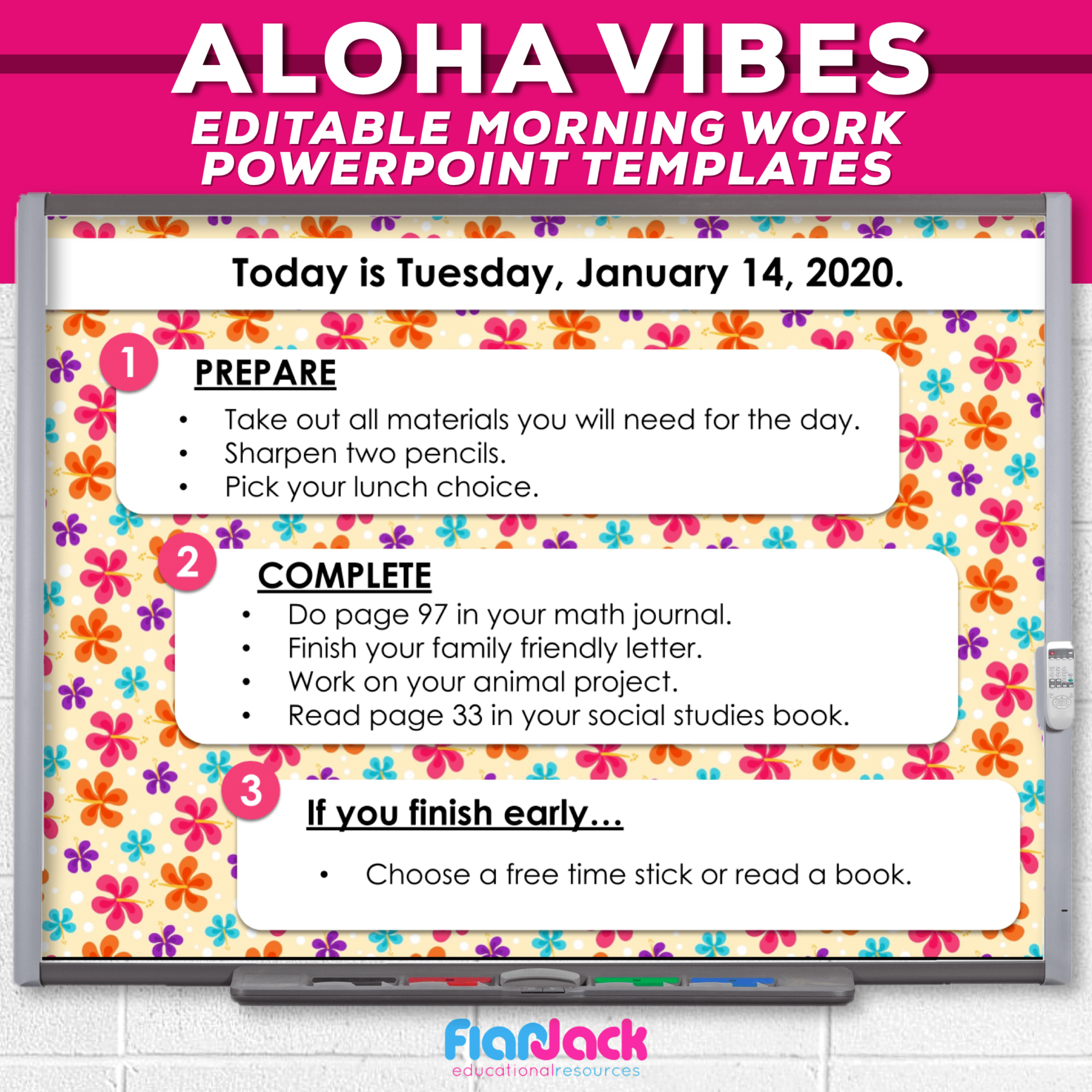 Editable PowerPoint Templates | ❀Aloha Vibes❀