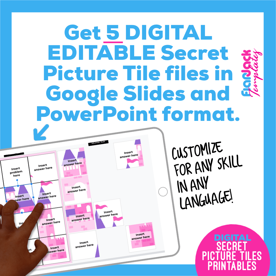 Digital Editable Google Slide Secret Picture Tiles | Fairytale
