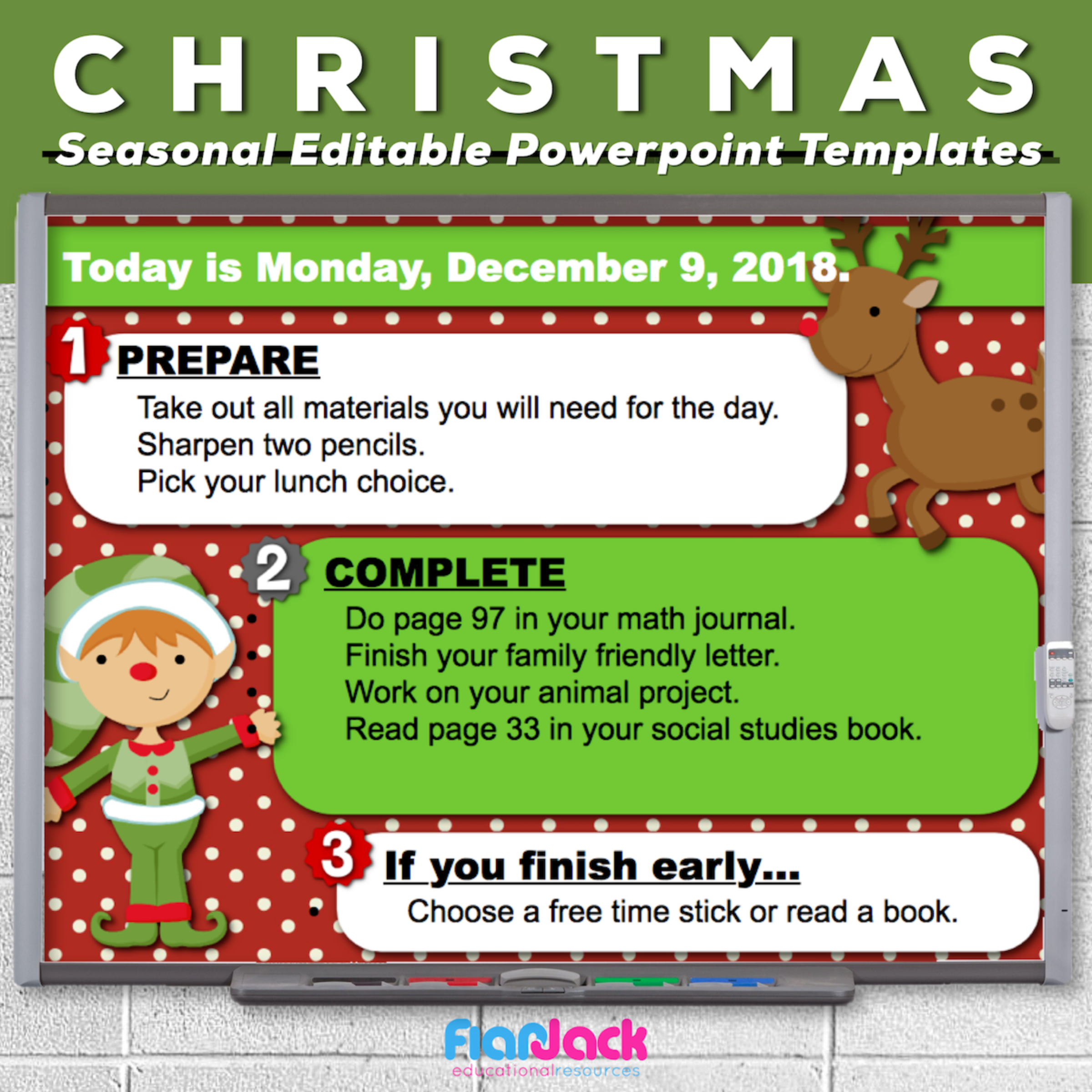 Christmas Editable PowerPoint Templates