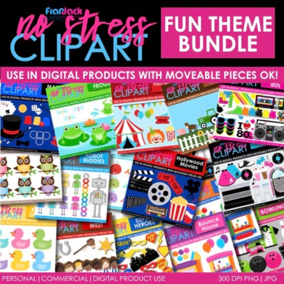 FUN Themes Clipart BUNDLE