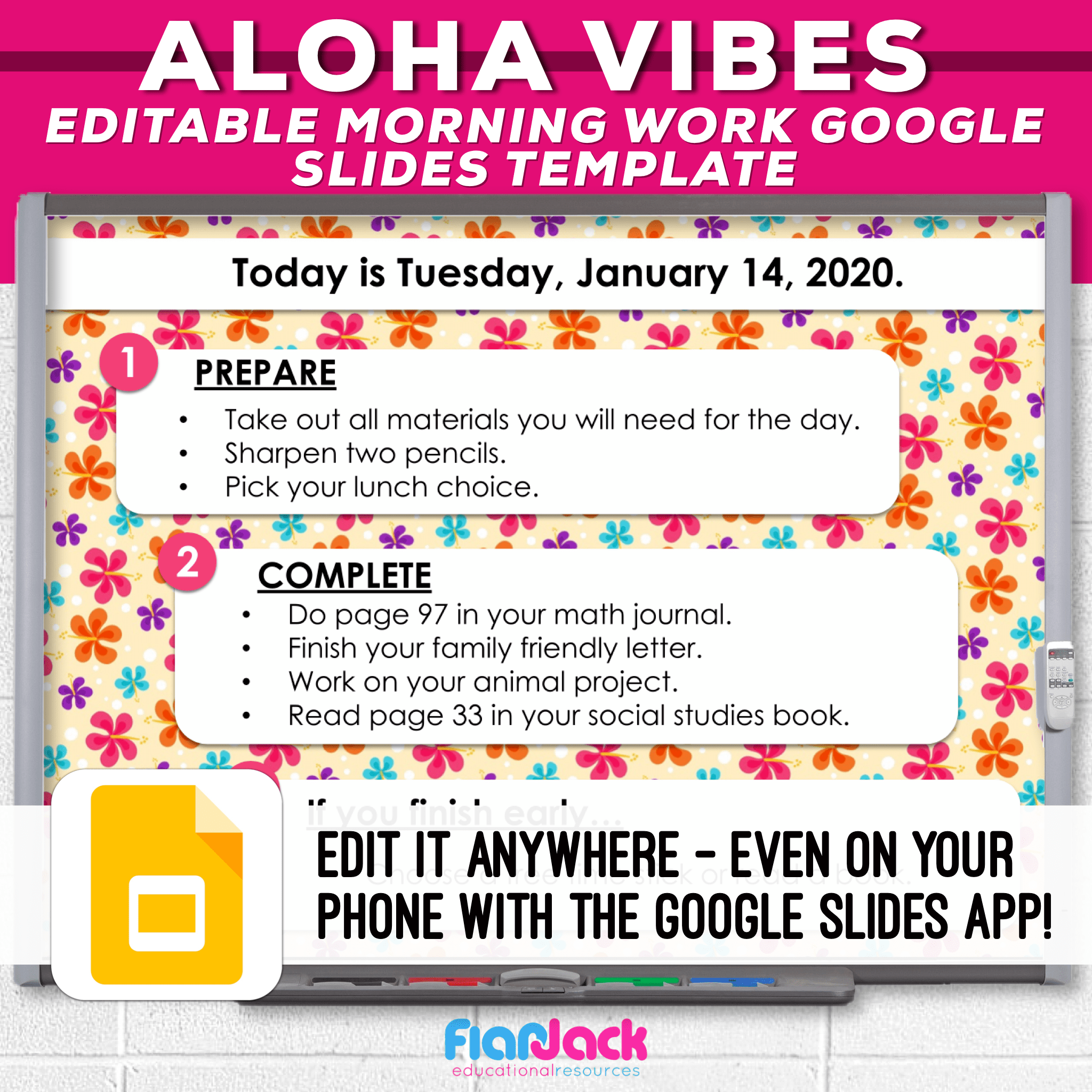 Editable Google Slide Templates | Aloha Vibes