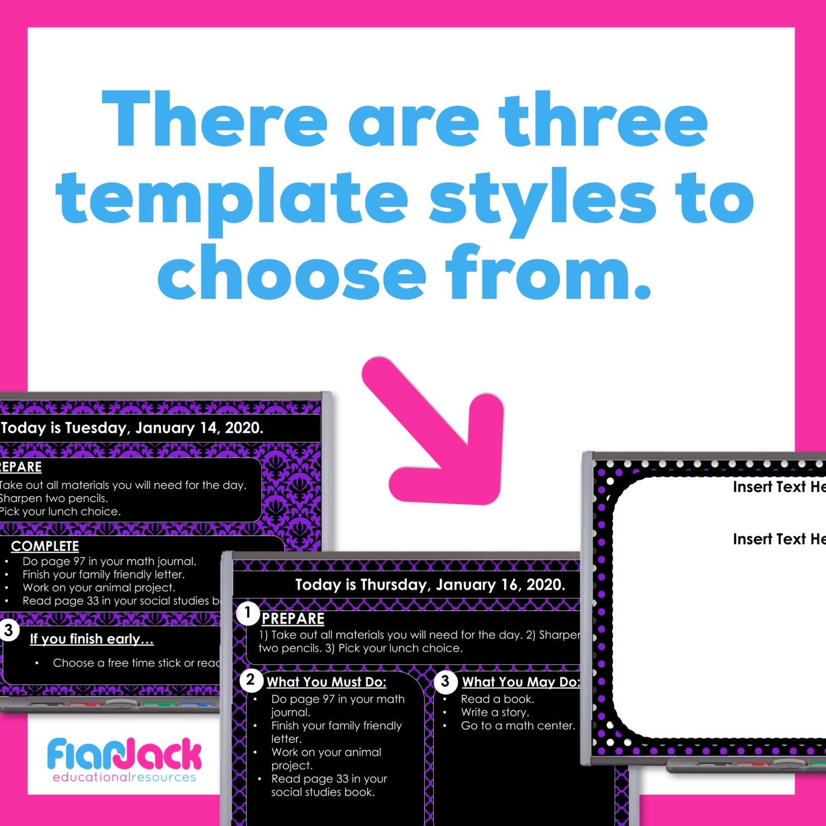 Editable PowerPoint Templates | Purple And Black